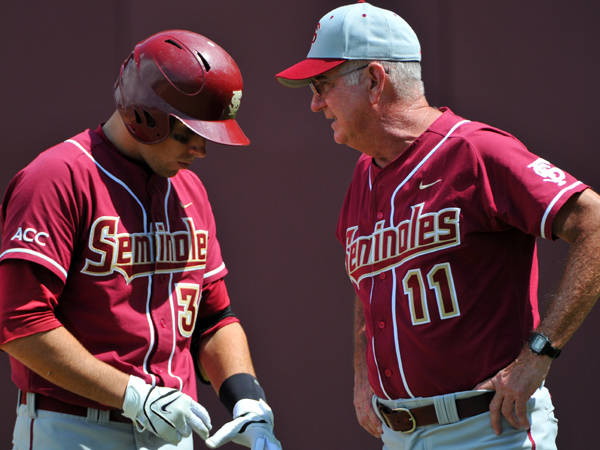 Coach Martin talks strategy with Stephen Cardullo