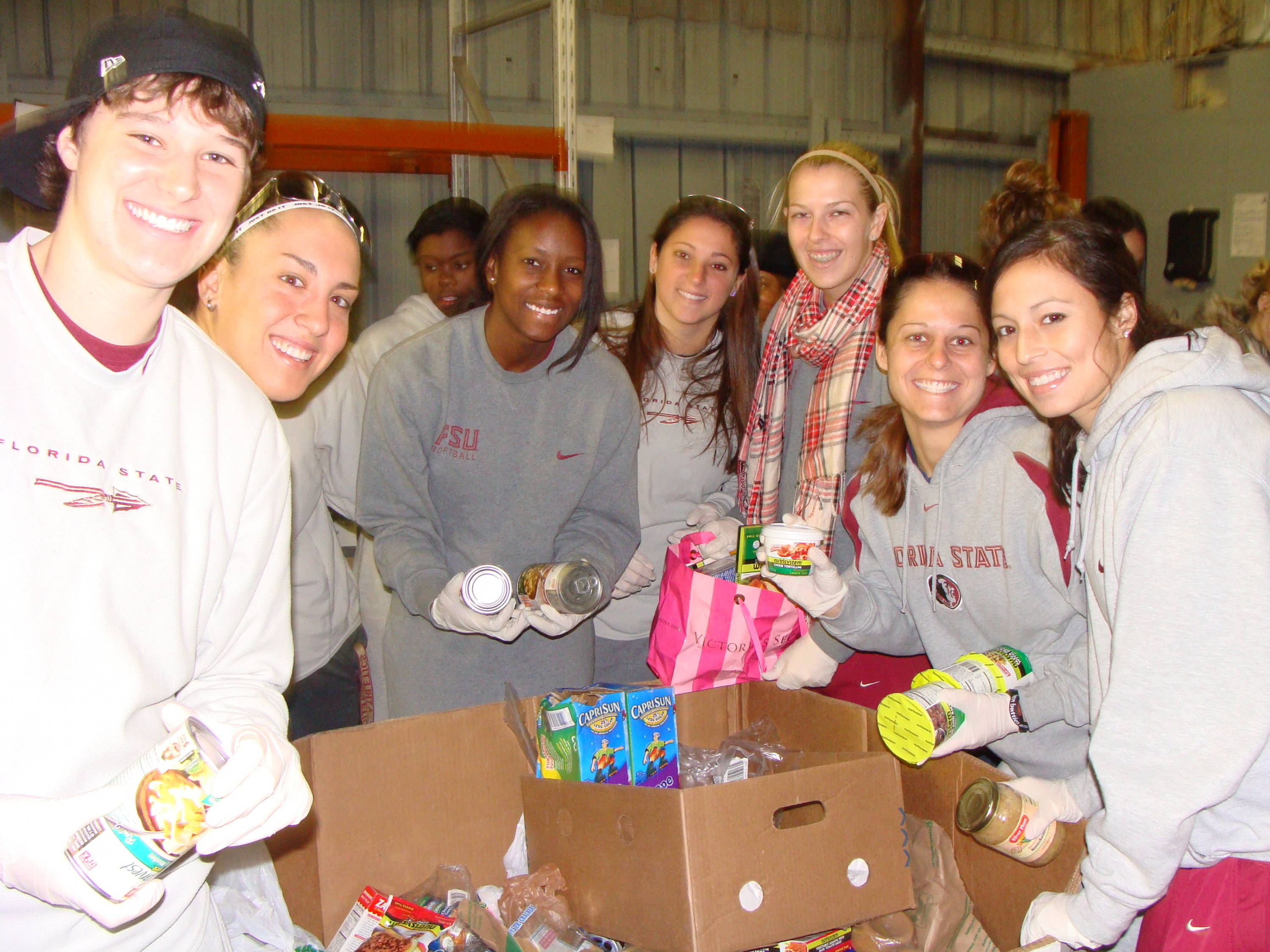 FSU participates in the Holiday Food Drive, just one of its many events