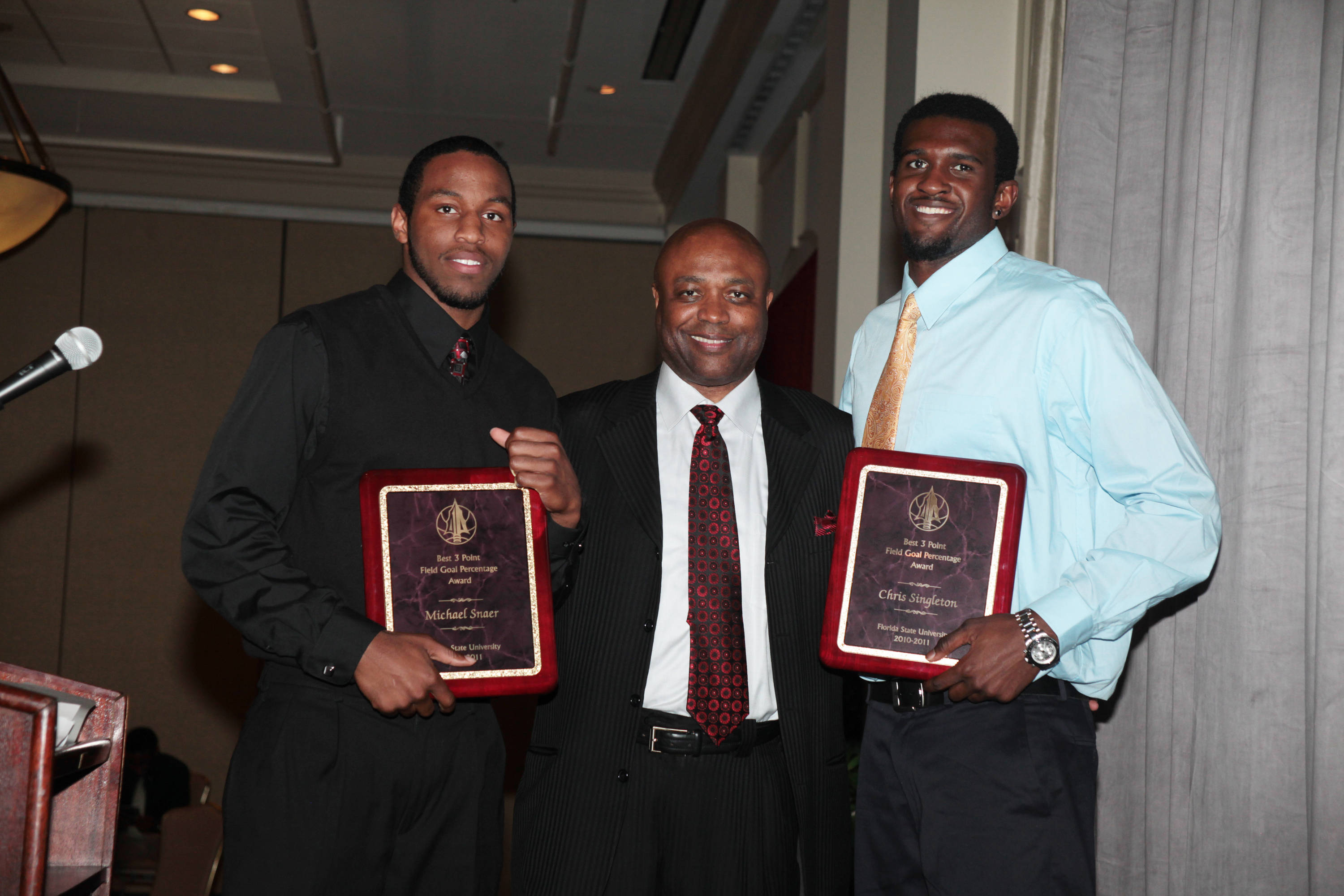 2011 Men's Basketball Banquet - Michael Snaer and Chris Singleton