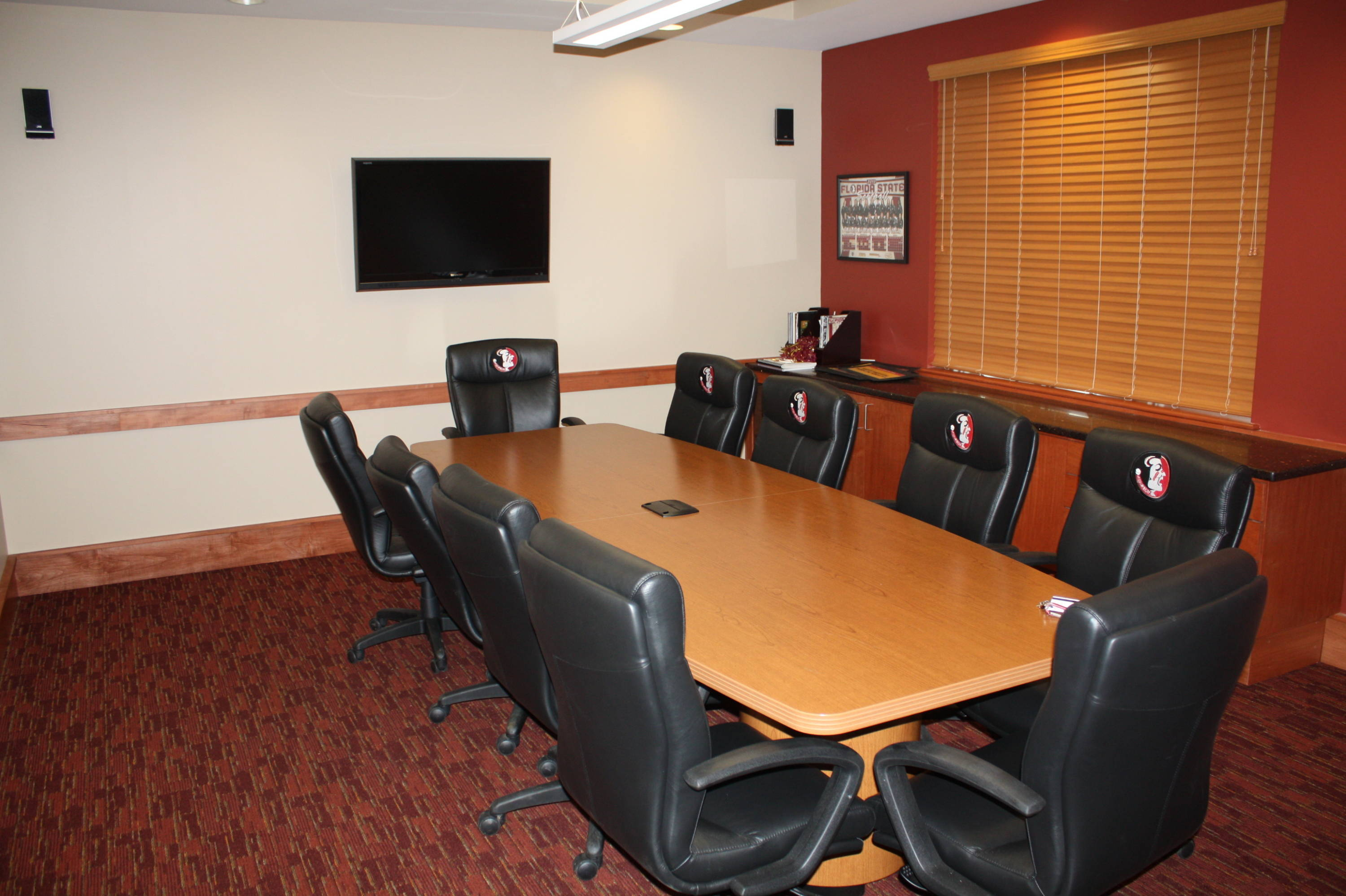 The conference room at the Seminole Softball Complex