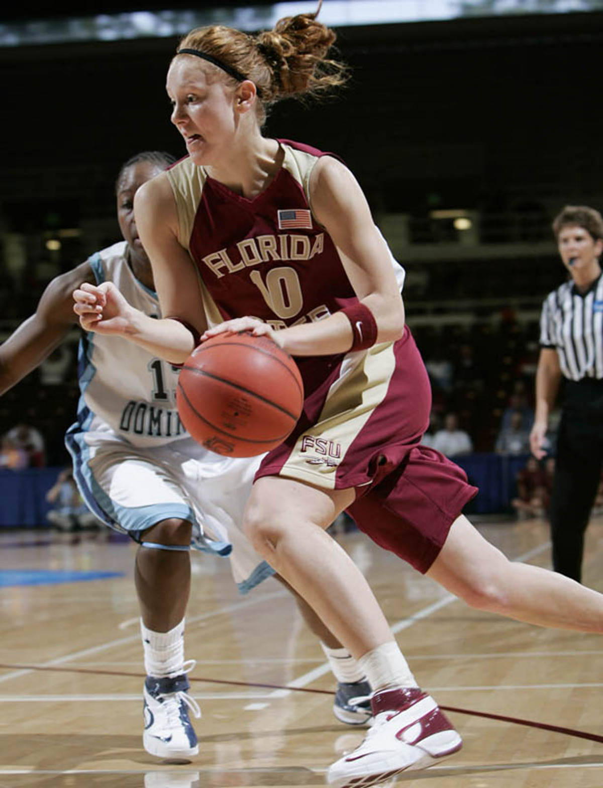 Mara Freshour had six assists and 12 points in the win over Old Dominion.