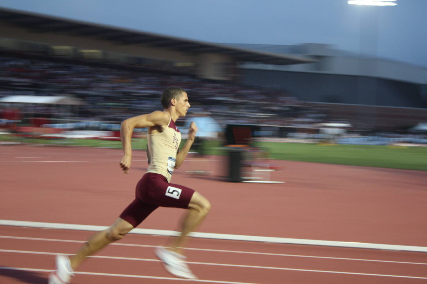 Jonathan Borlee in the 400m run.