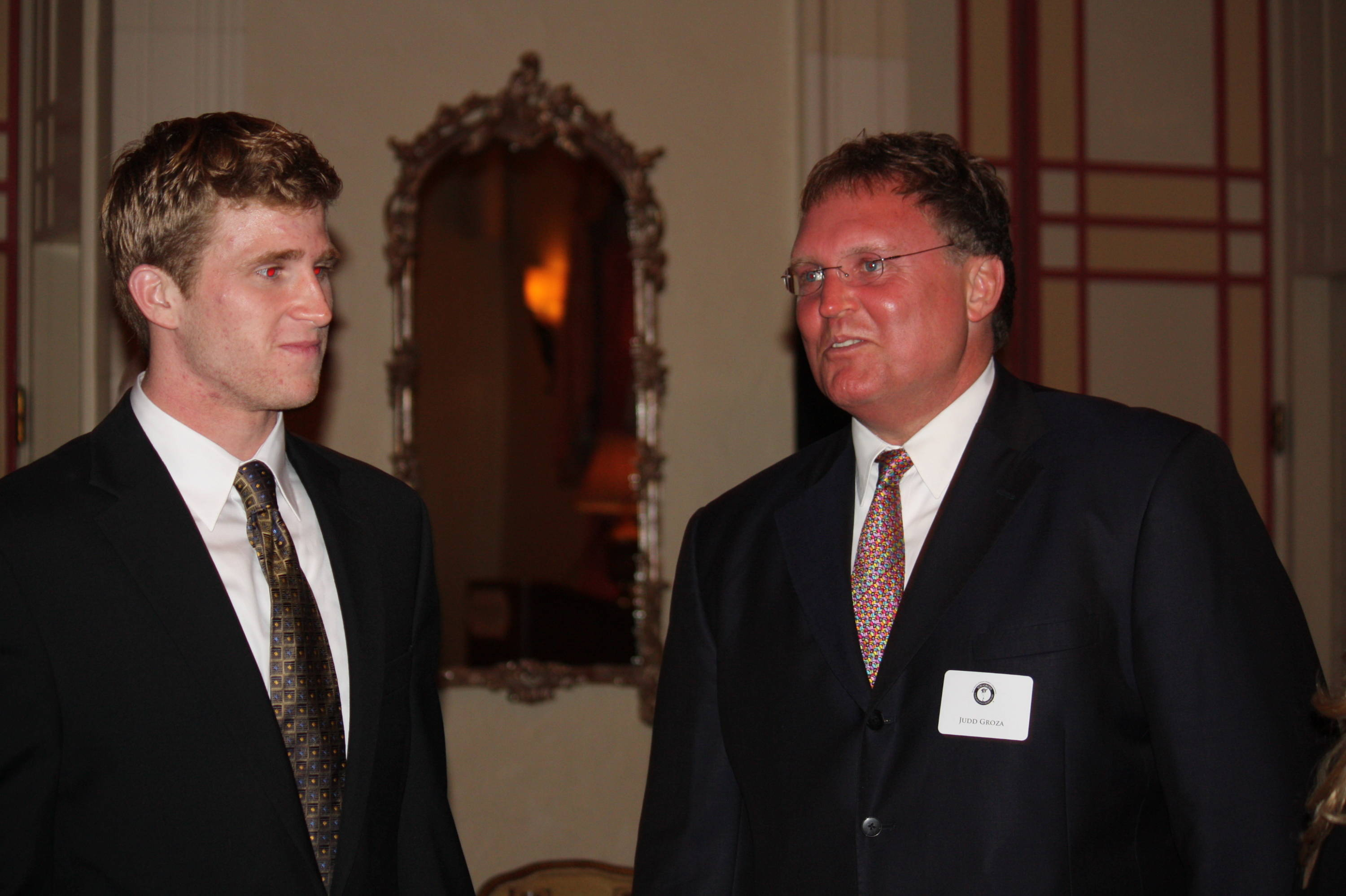 Dustin had a chance to spend time with Judd Groza, the son of the late Hall of Fame kicker whose name graces the award to the nation's top kicker.