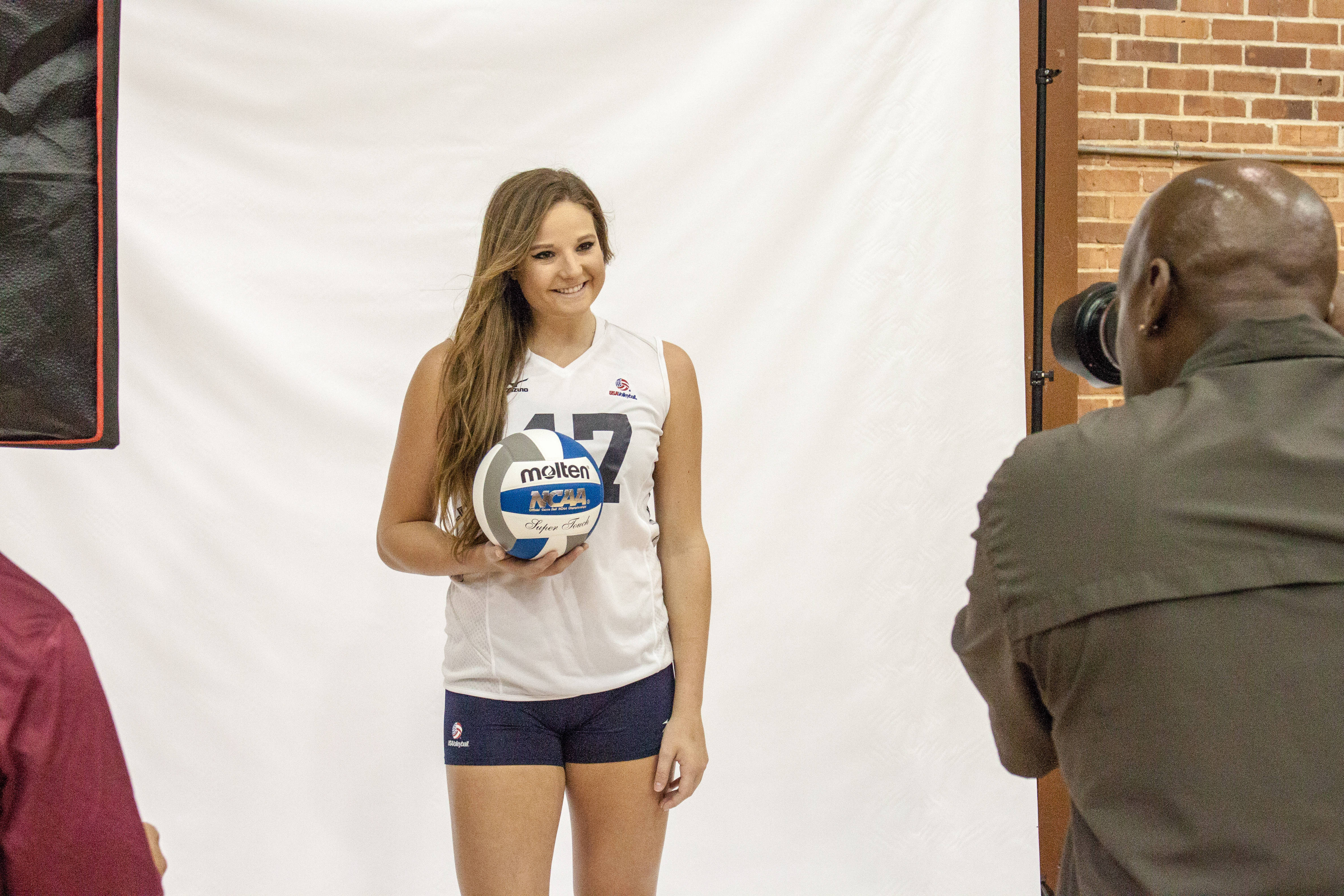 Nicole Walch trades her Seminole gear in for her USA Volleyball uniform.