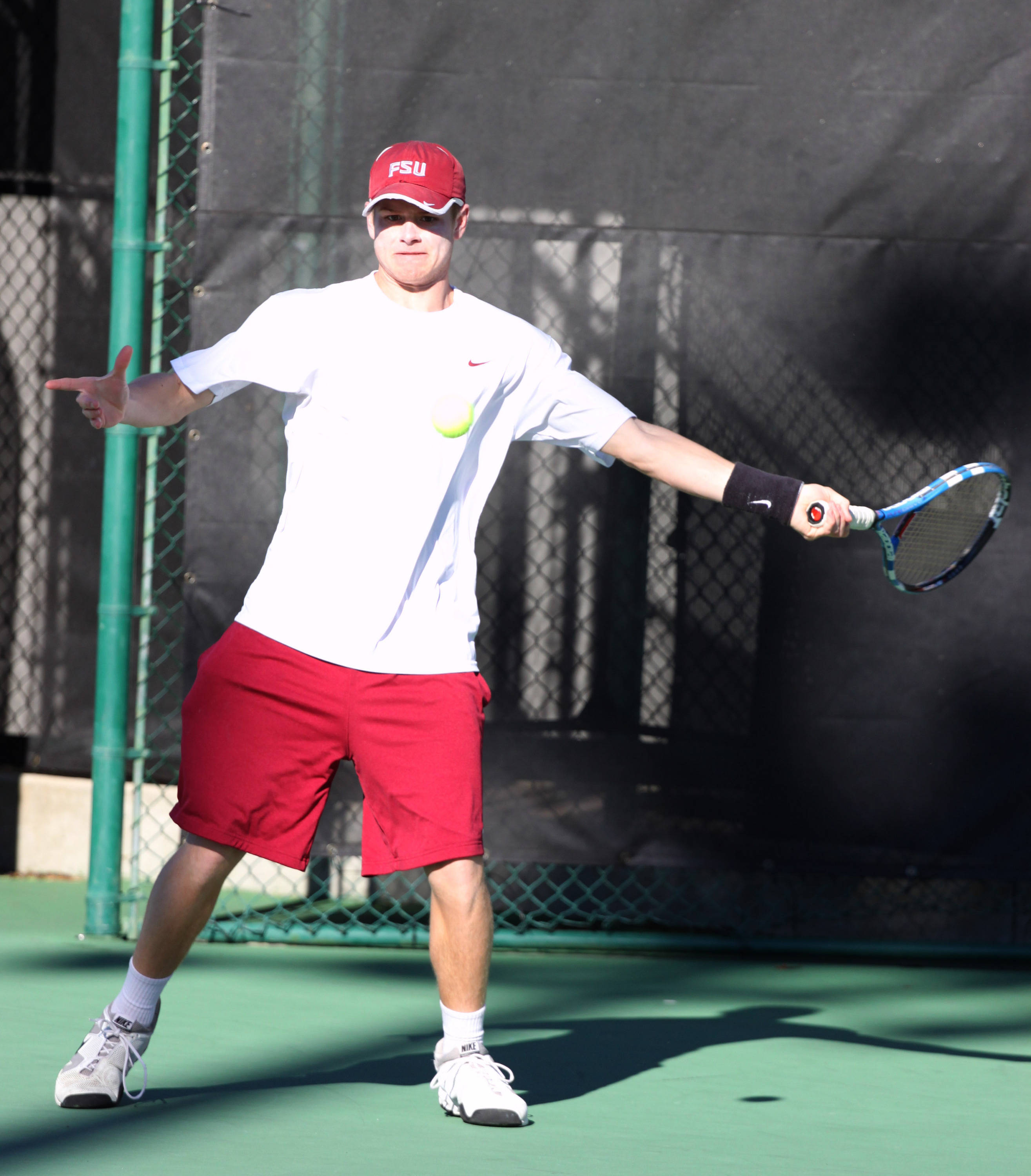 Clint Bowles First Tennis Practice