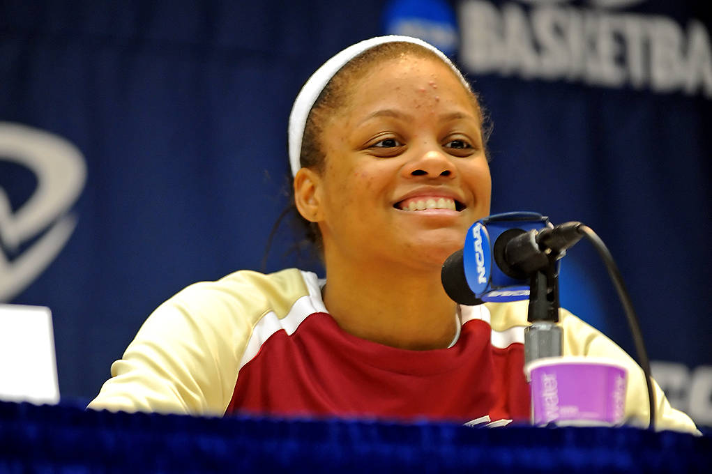 August 31 ... Courtney Ward was all smiles last year after FSU's opening round win in the NCAA Tournament. Ward is back for her senior year this season and looking to become the top point guard in all of women's college basketball.