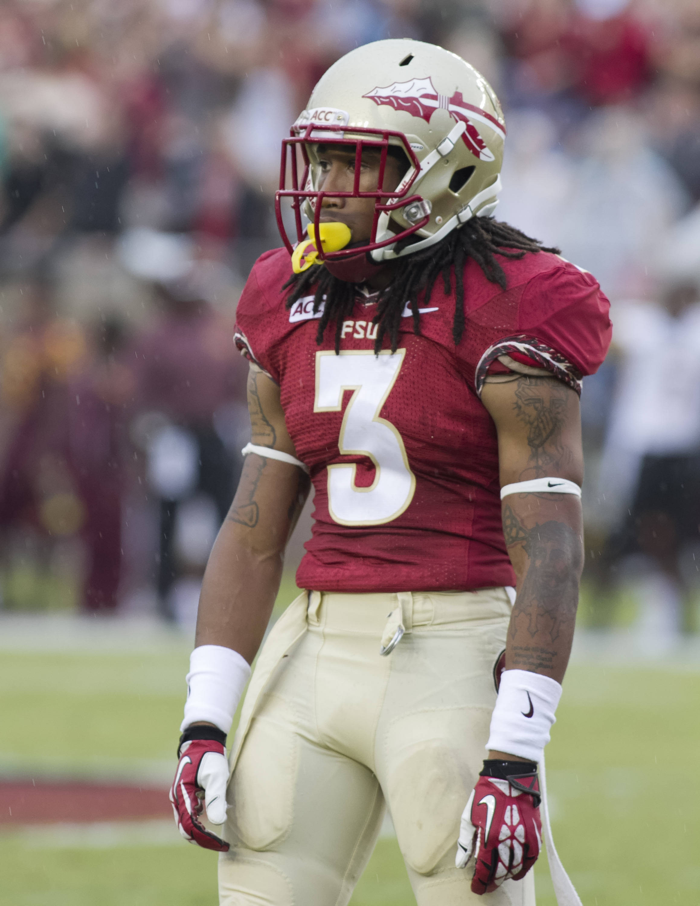 Ronald Darby (3), FSU vs Bethune-Cookman,  9-21-13, (Photo by Steve Musco)