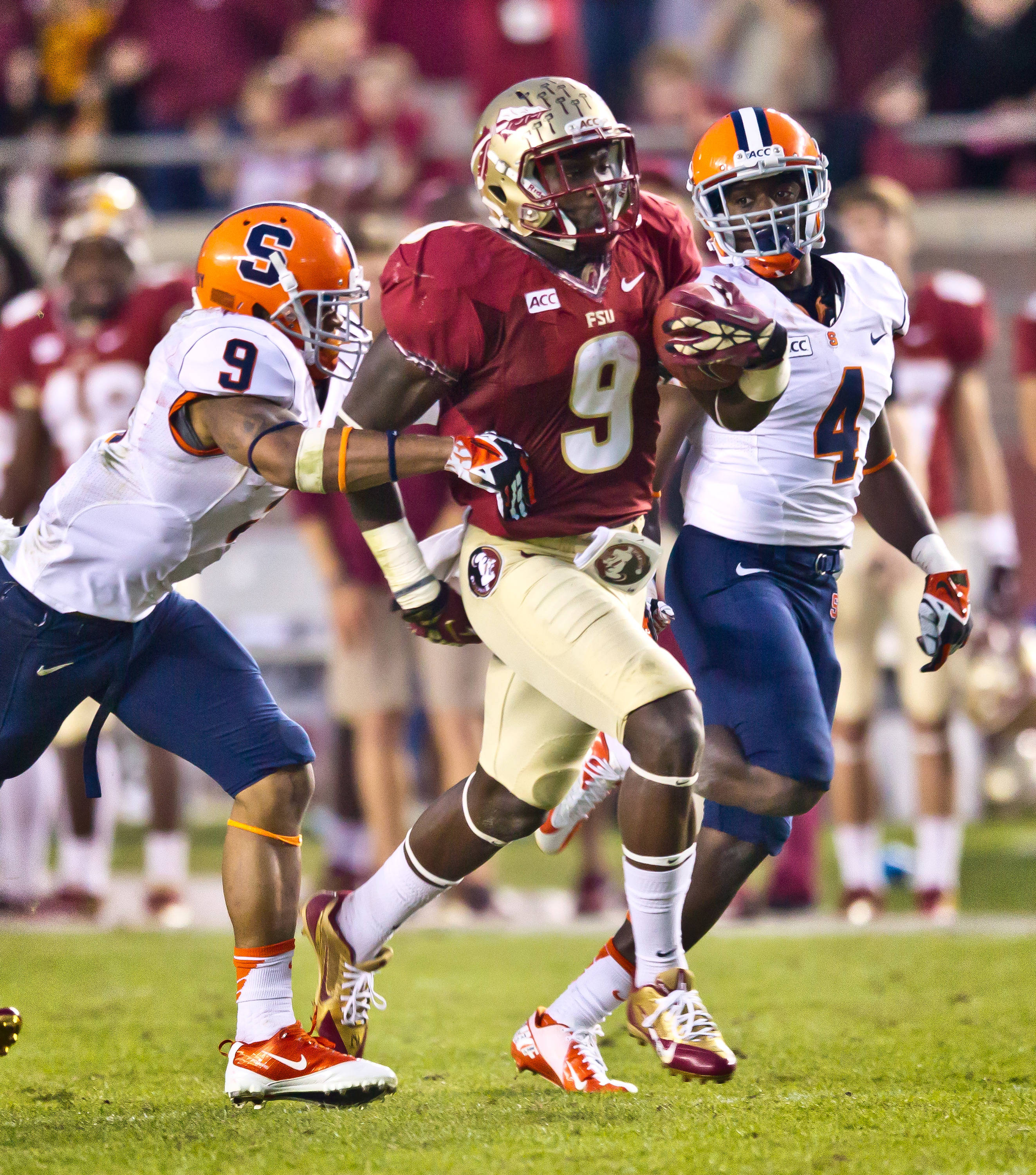Karlos Williams (9) rambles for 56 yards.