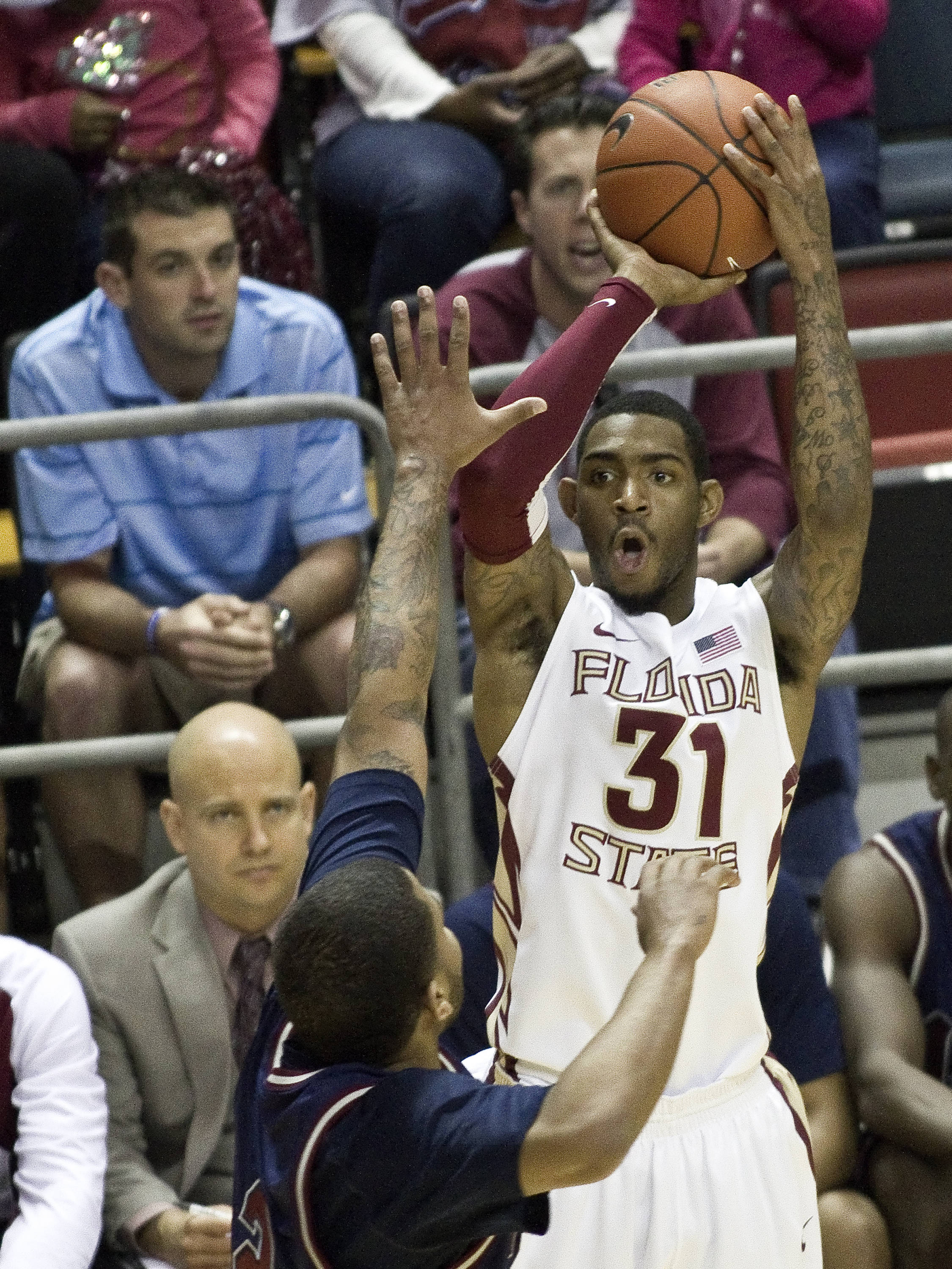 Terry Whisnant (31), FSU vs Loyola-Mary., 12/18/2011