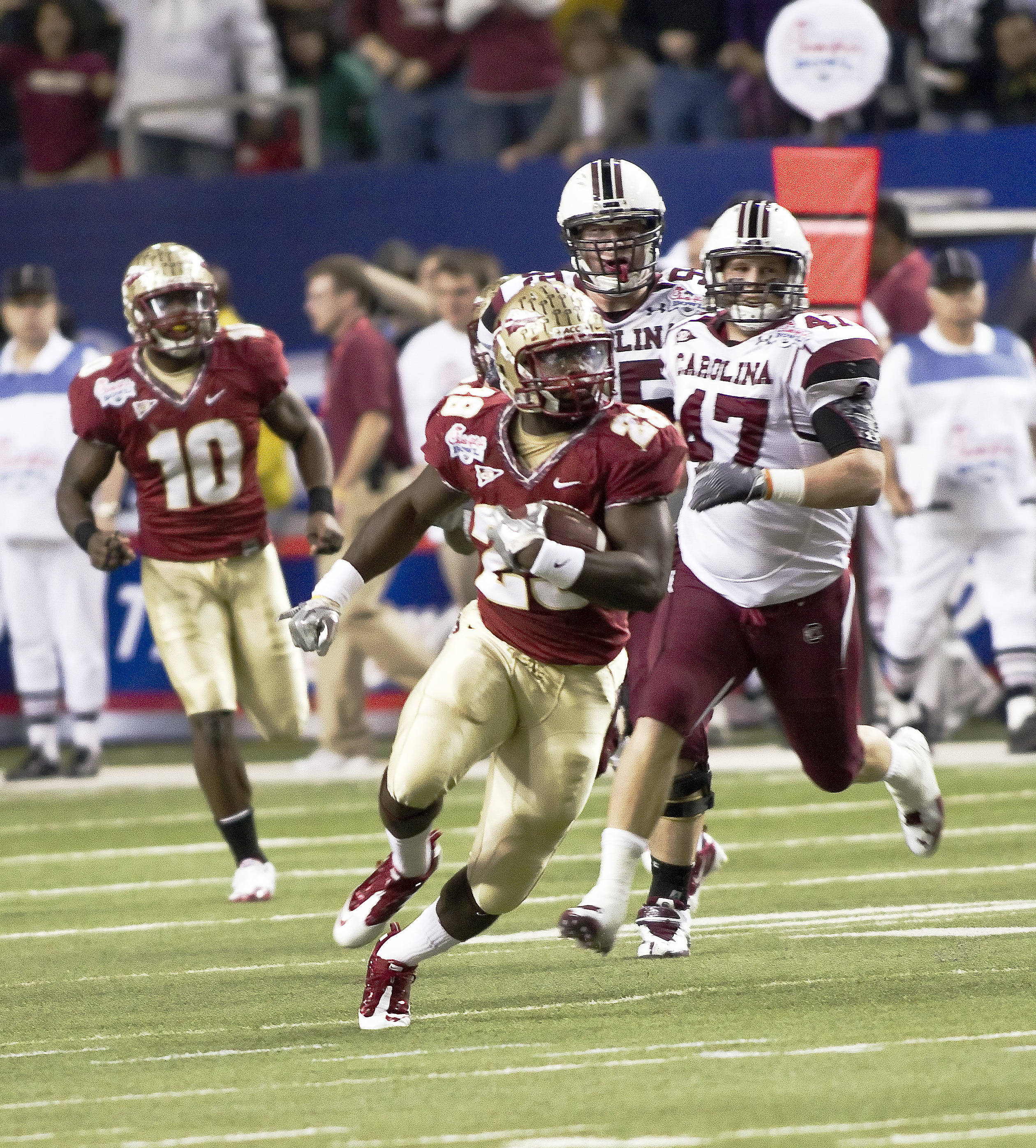 Kendall Smith (29) returns a fumble