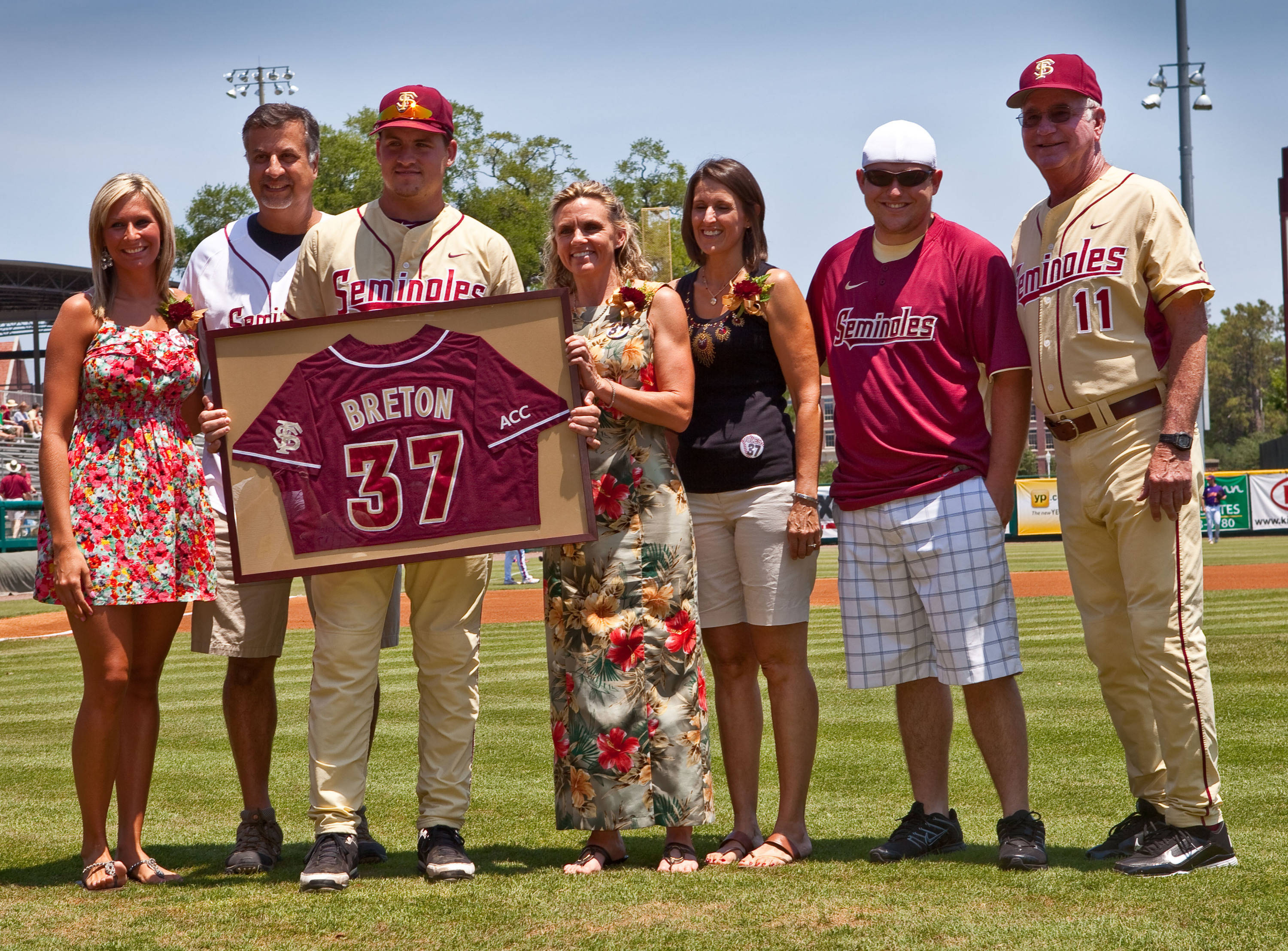Florida State senior Will Breton with his family.