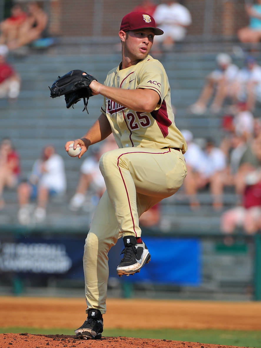 Mike McGee began the day on the mound for the Seminoles, who prevailed in a Super Regional slugfest, 23-9.