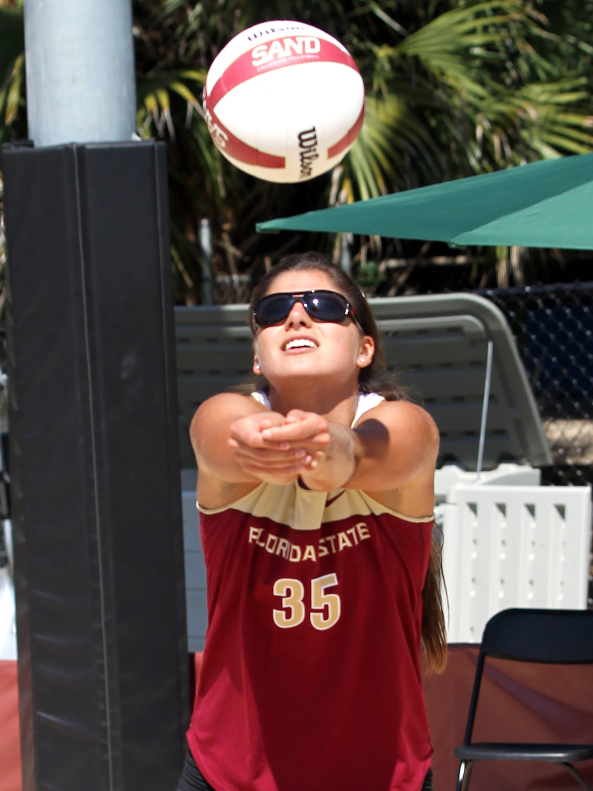 Olivera Medic, Sand Volleyball Tournament,  04/20/13 . (Photo by Steve Musco)