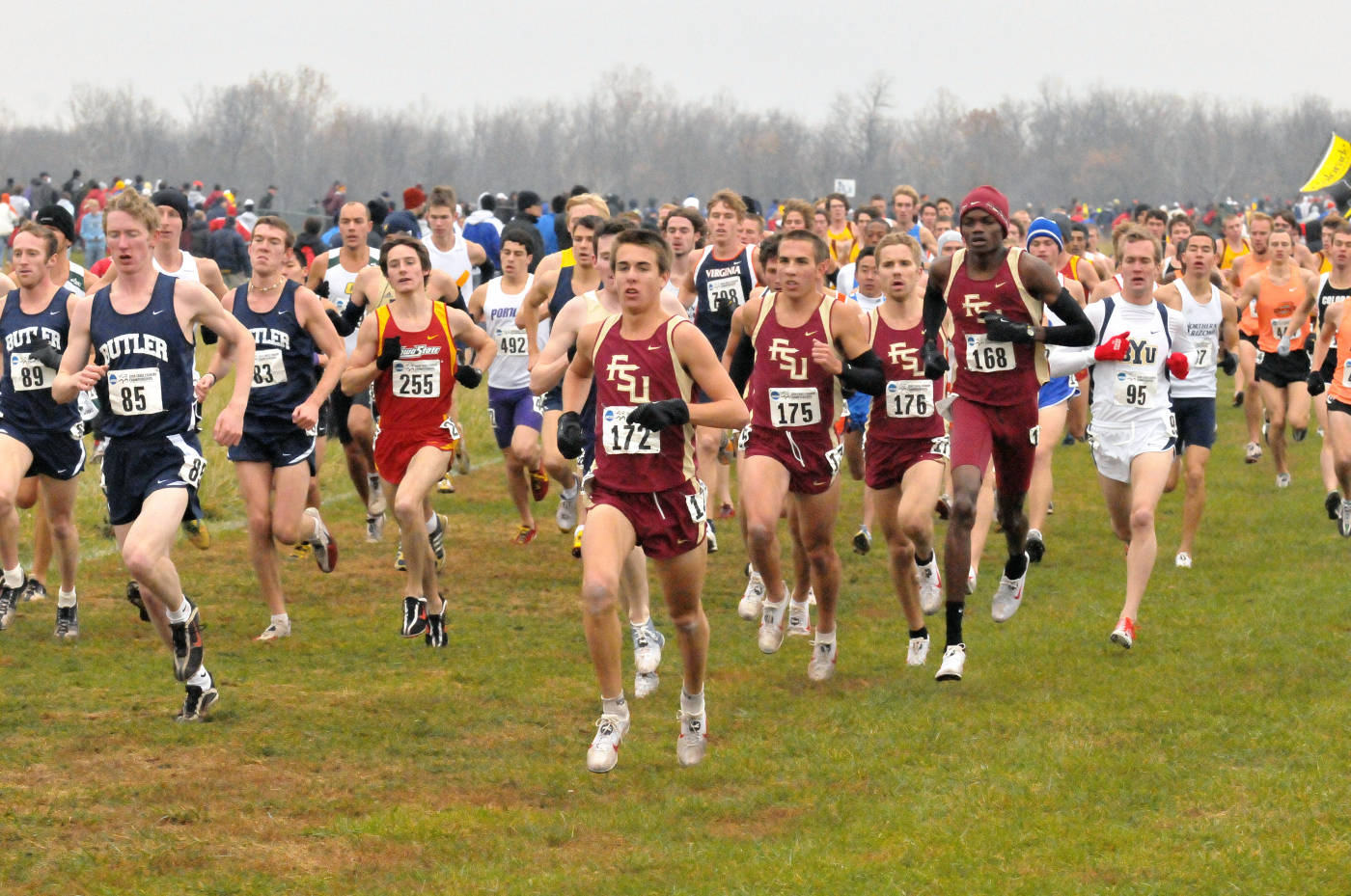 Florida State men's cross country team at nationals.