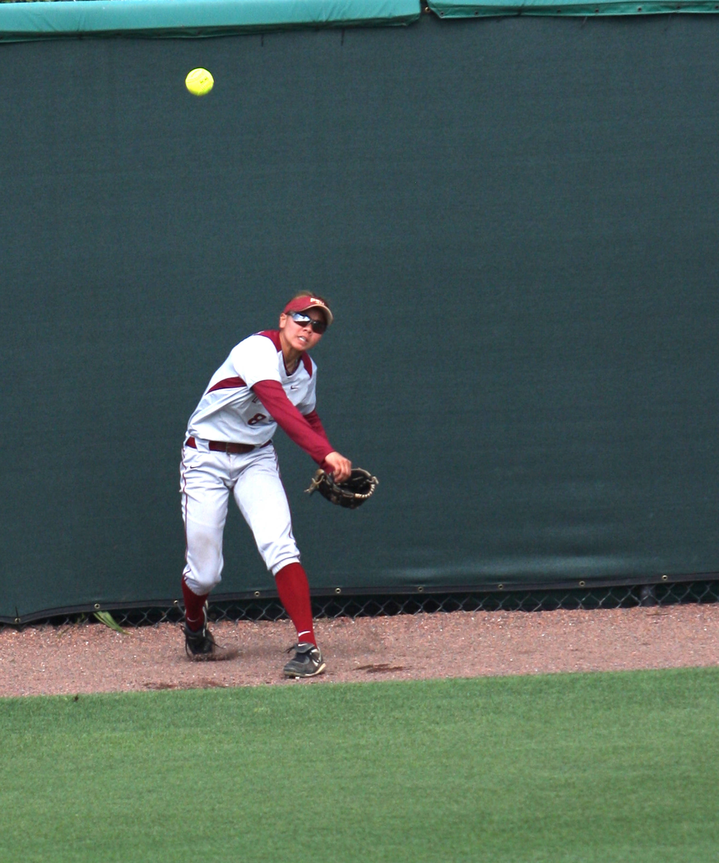 Courtney Senas, FSU Softball vs FGCU 1,  03/29/2012