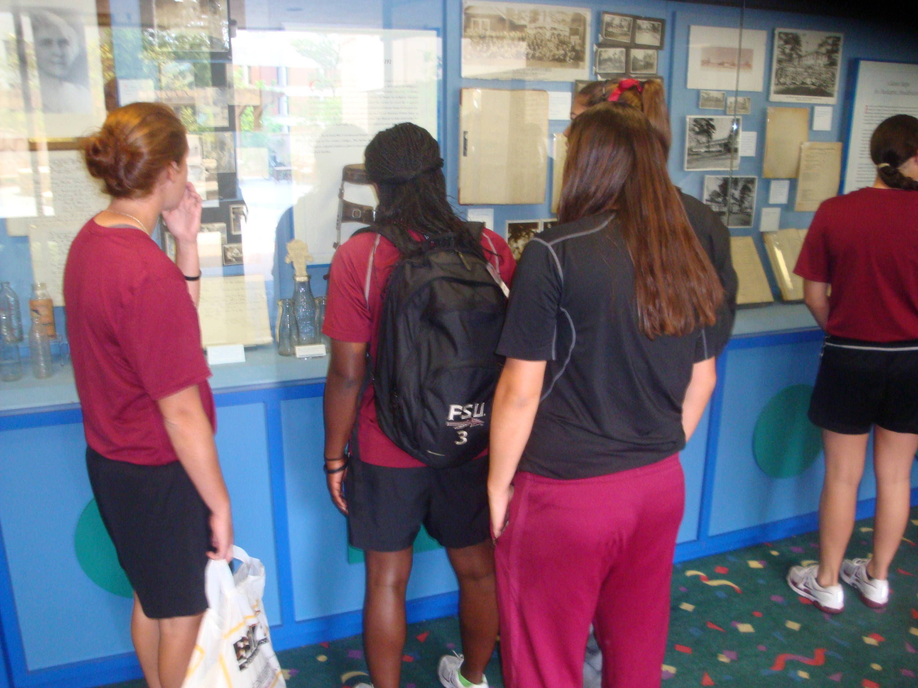 As we walked inside, the team studied some historical aspects of the children's health center