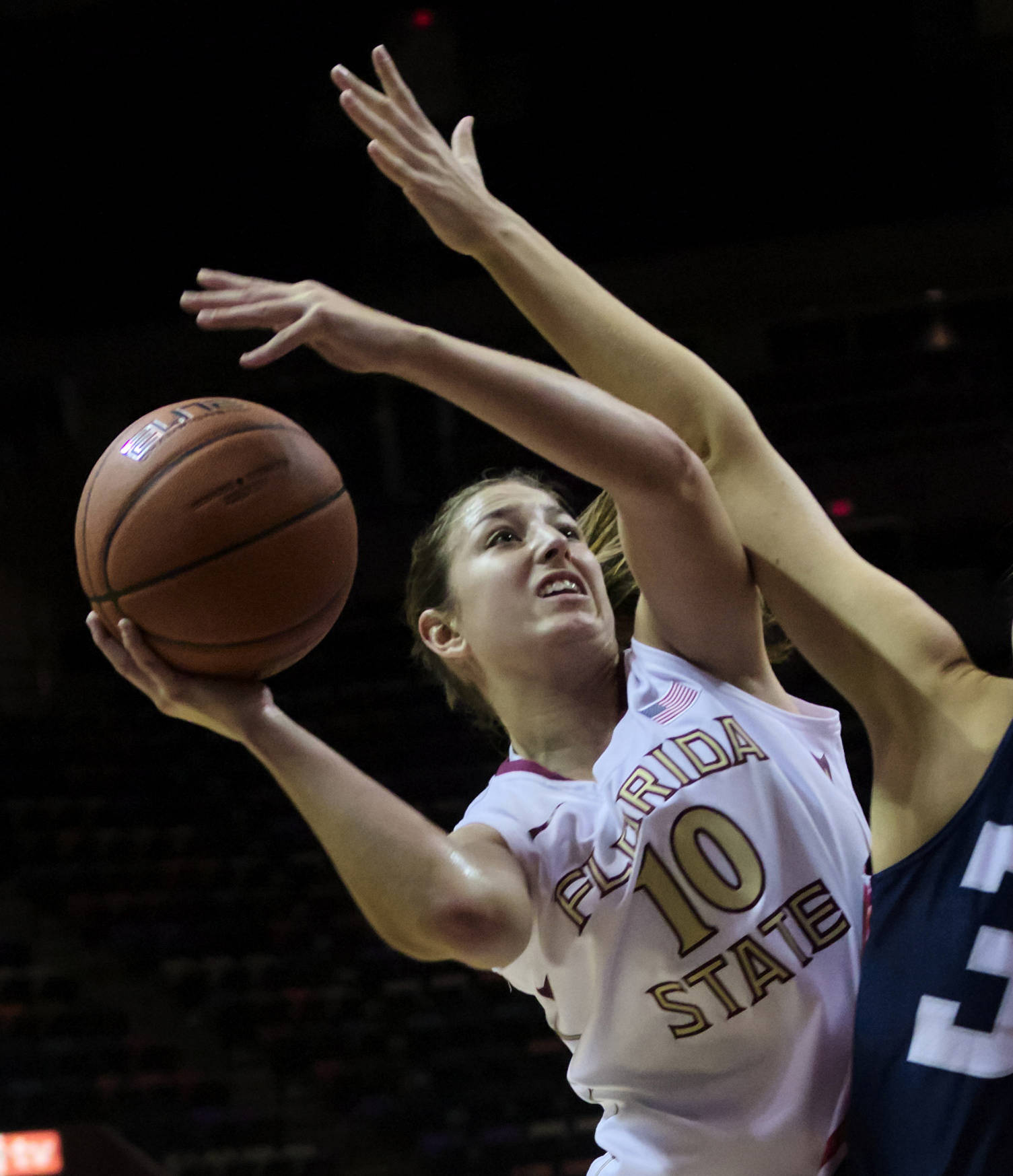 Leonor Rodriguez (10), FSU vs Samford, 11/11/12. (Photo by Steve Musco)