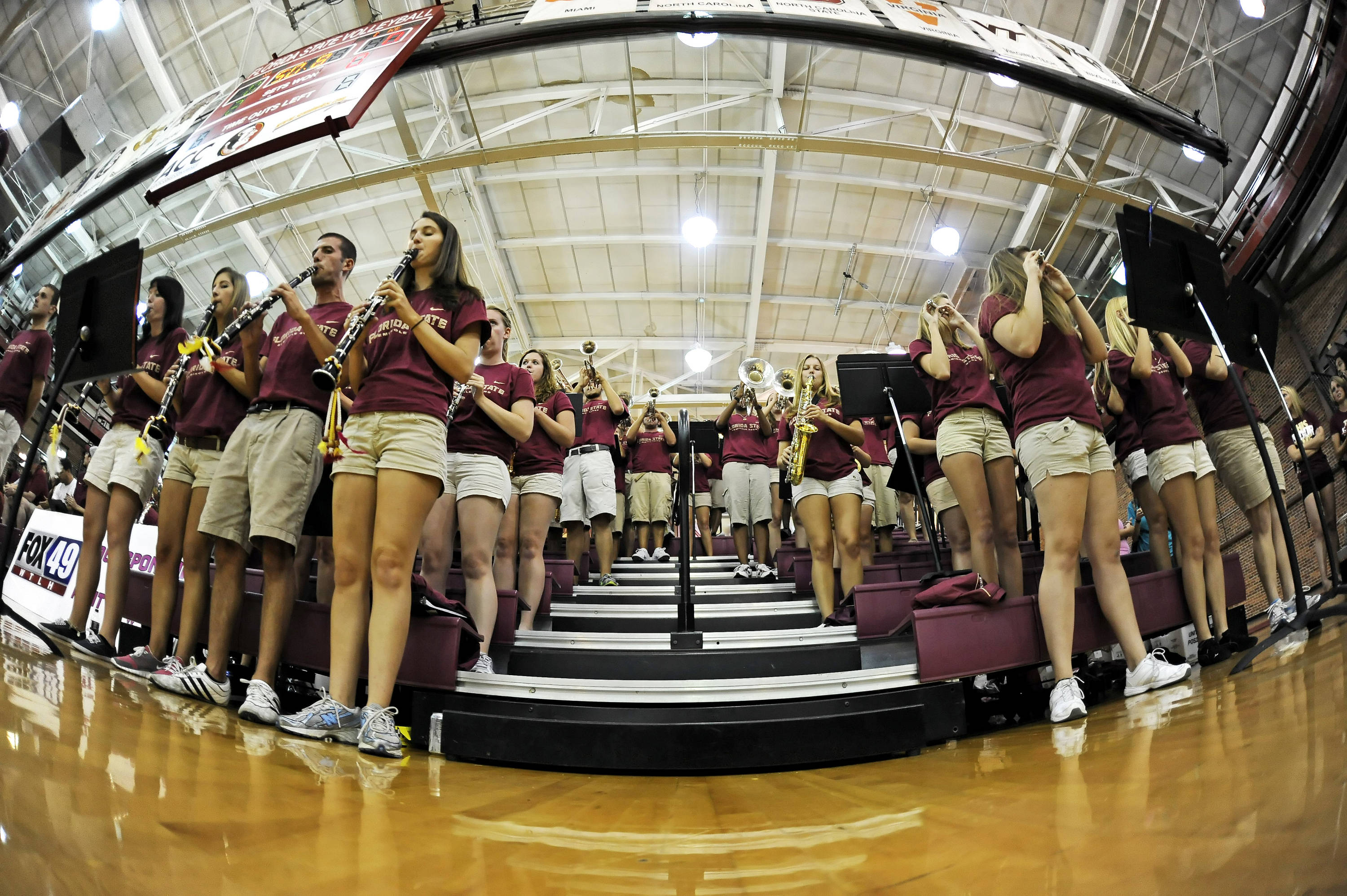The Florida State band plays a tune