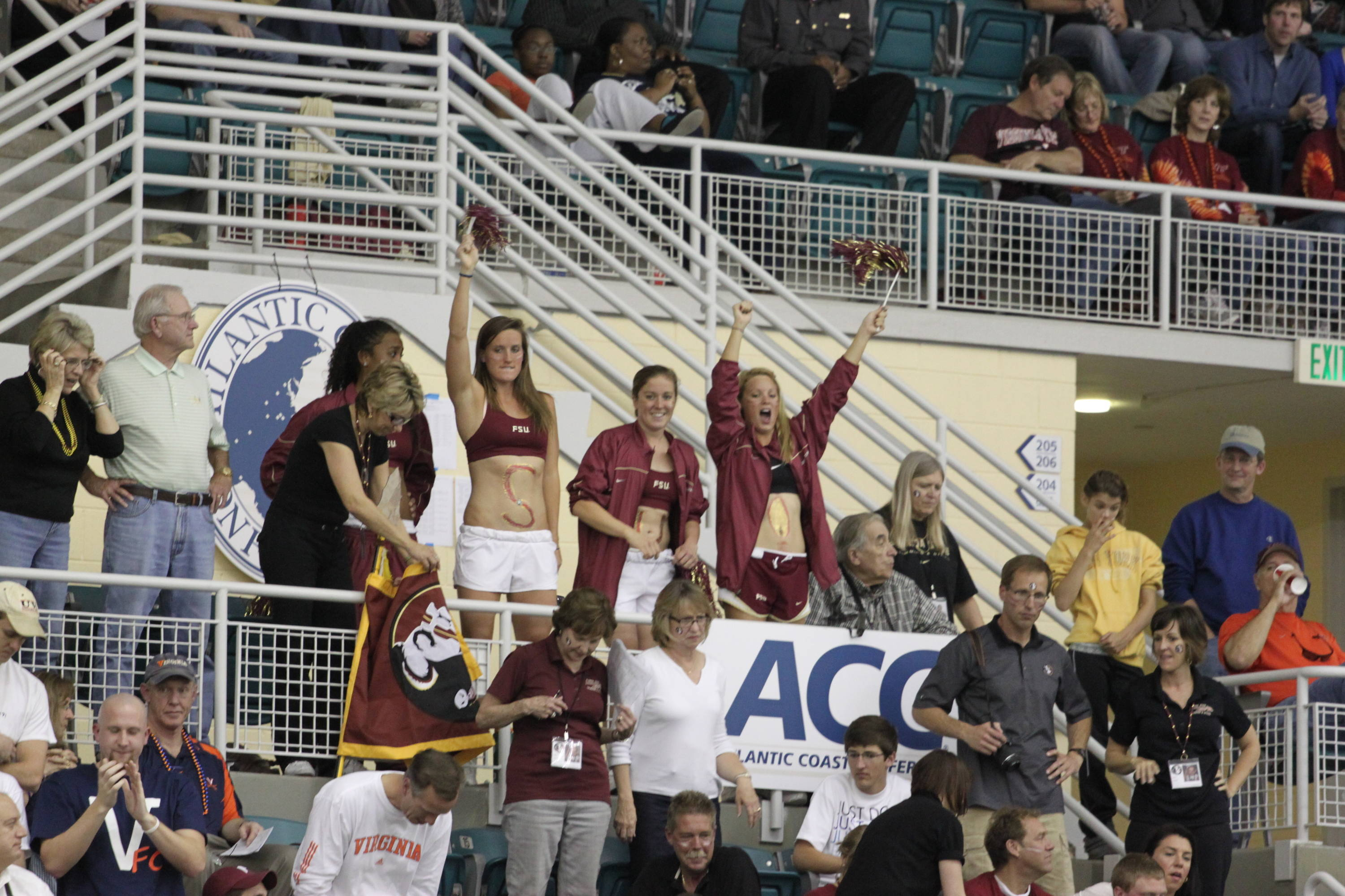 Seminole fans cheer on Florida State swimmers