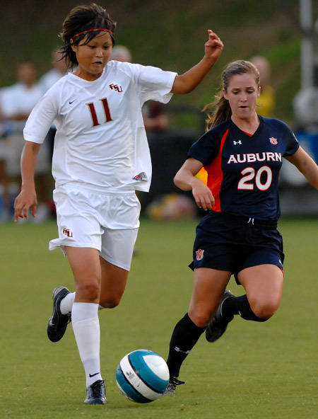 Mami Yamaguchi scored a goal and an assist against Auburn in the win.