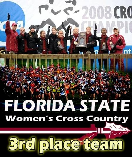 Florida State's Women's Cross Country took third place for the second consecutive year,