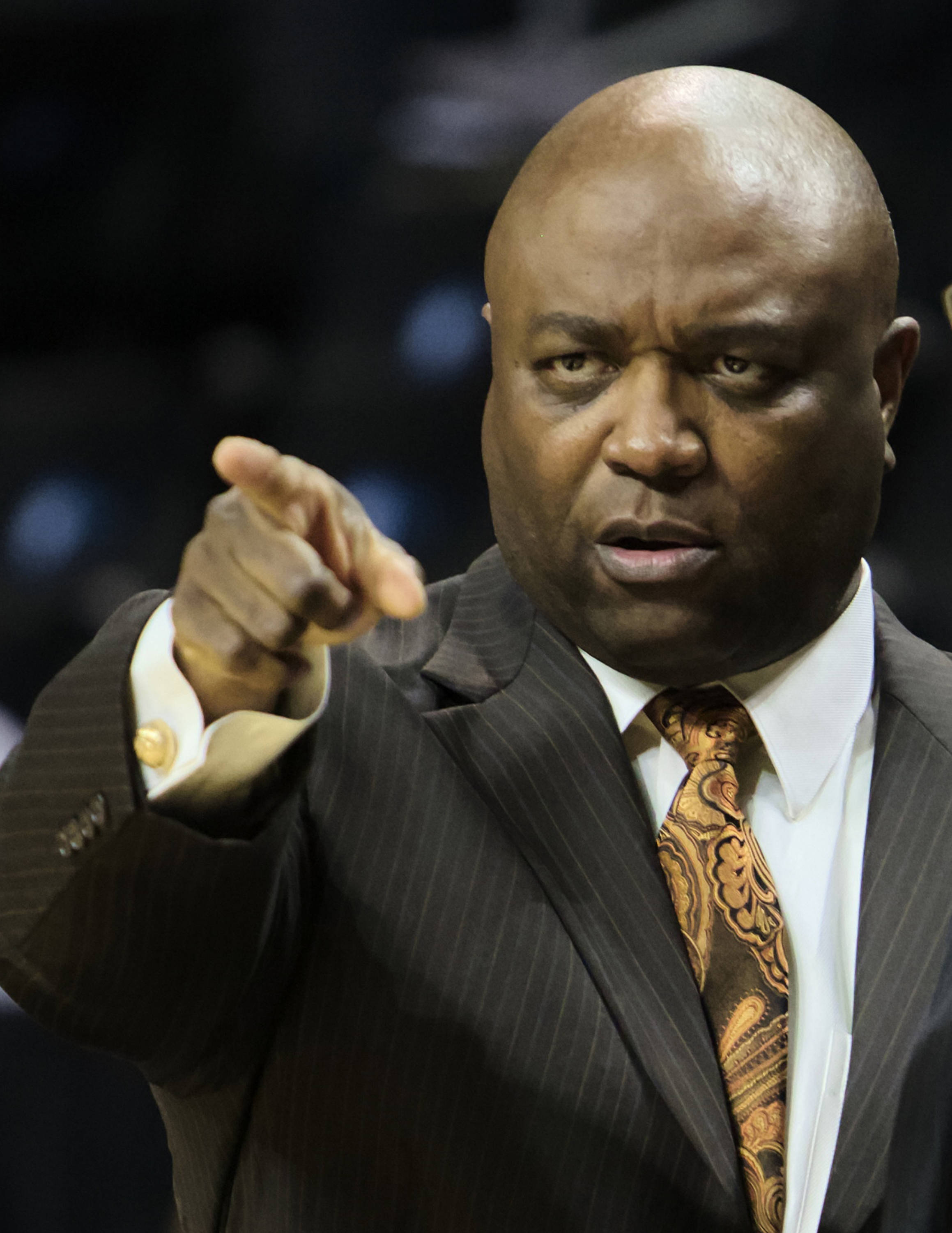 Head Coach Leonard Hamilton, FSU vs BYU, 11/16/12. (Photo by Steve Musco)