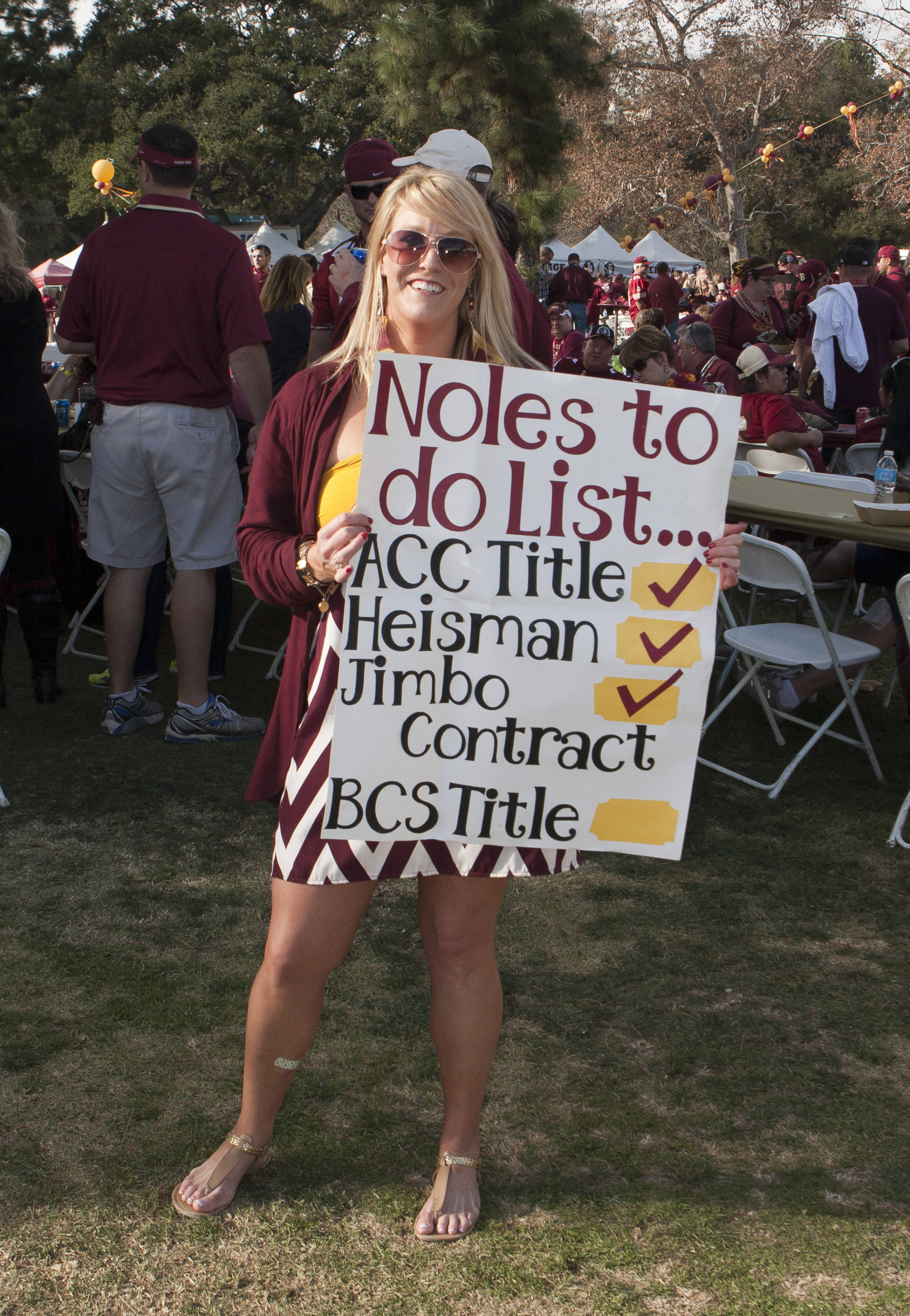 Noles ready to finish this list, FSU at BCS Championship, Rose Bowl, Pasadena, CA,  1-06-14,  (Photo by Steve Musco)