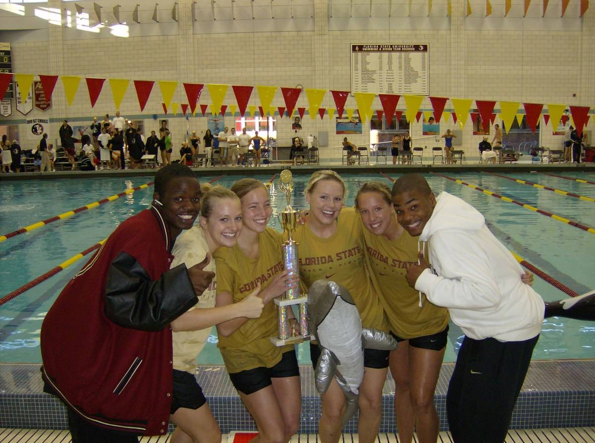 1st place: Women's Track & Field (with Dolphin)