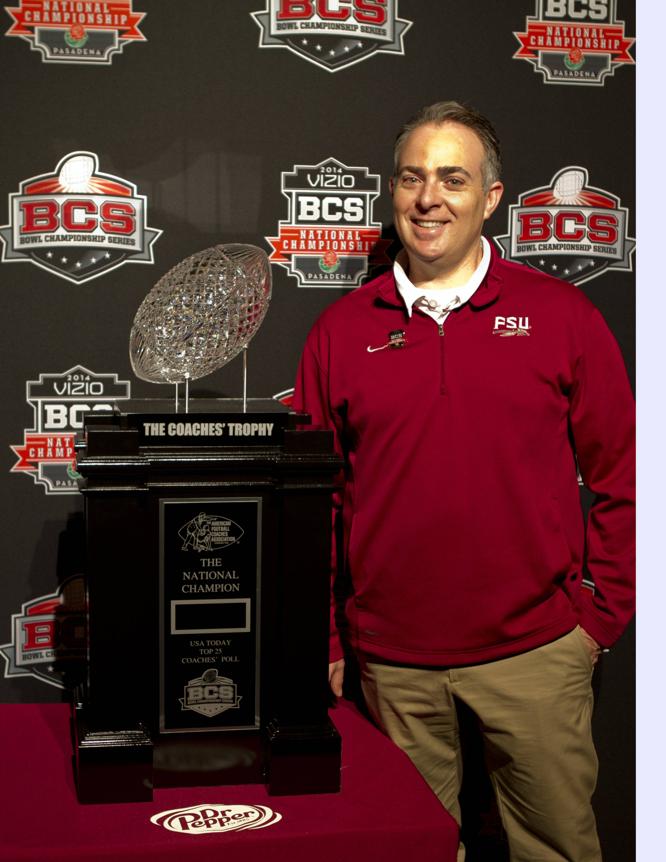 Assistant Athletic Director and Sports Information Director Elliott Finebloom, FSU at BCS Championship Press Conference,  1-04-14,  (Photo by Steve Musco)