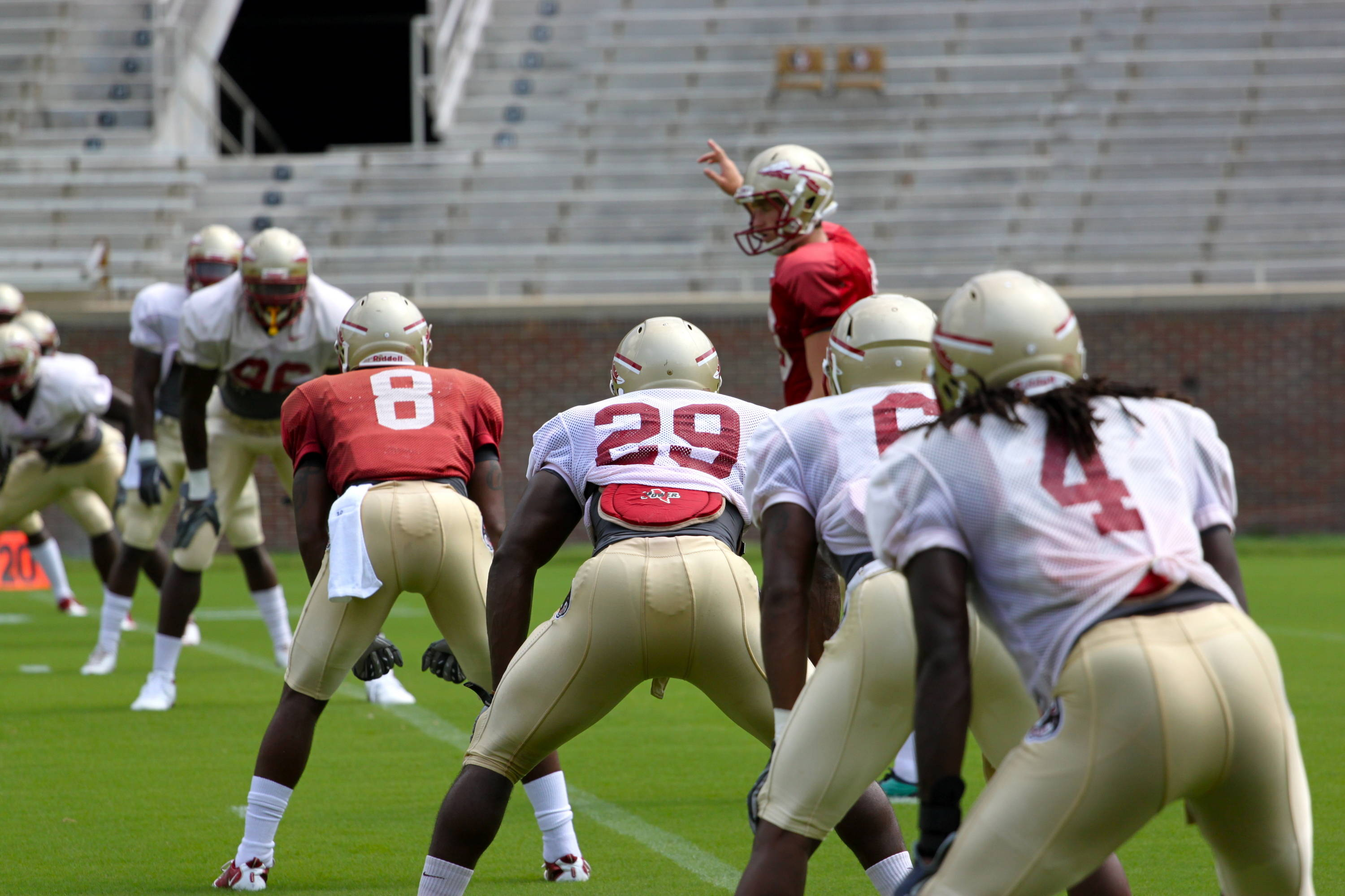 Dustin Hopkins (18) and the kickoff team