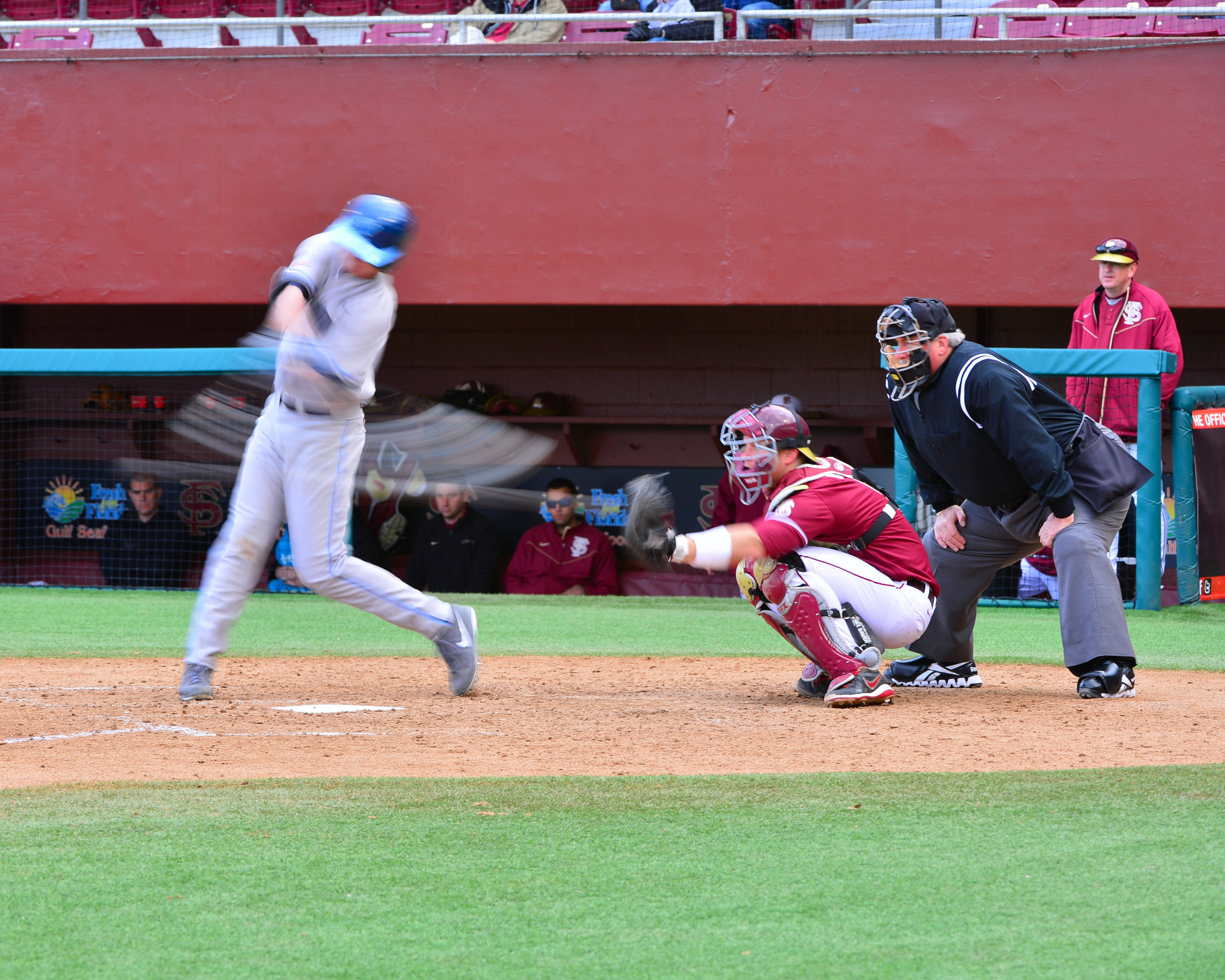 Stephen McGee is on the receiving end of one of 14 strikeouts on Saturday.