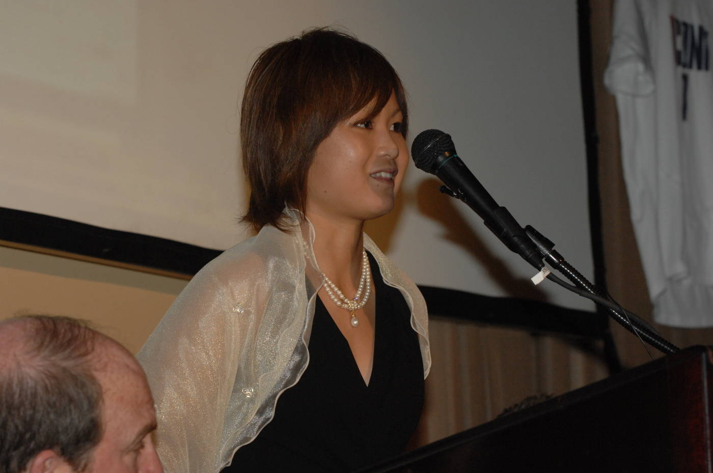 Mami during the press conference at the Missouri Athletic Club.