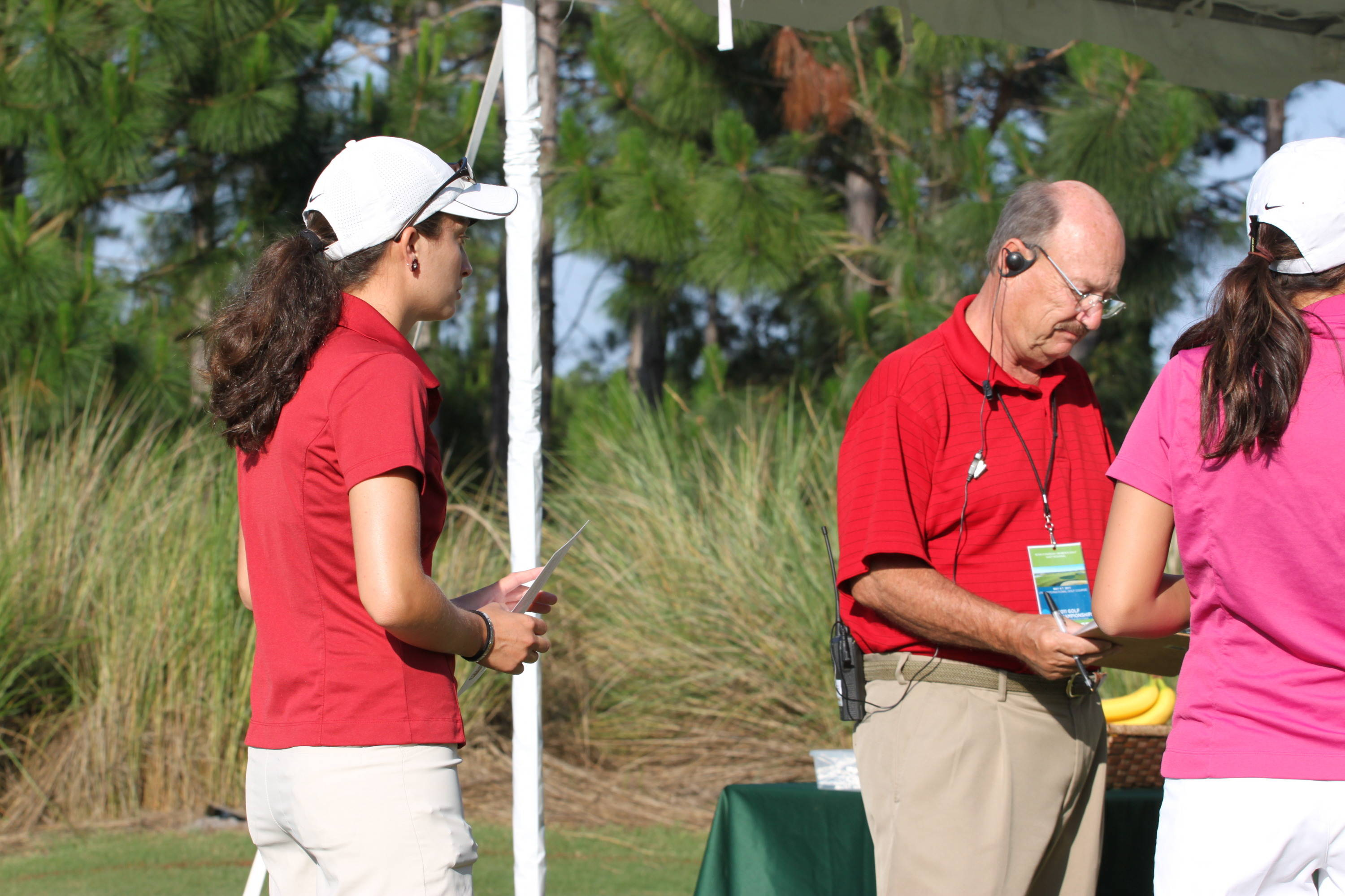 2011 NCAA Golf -- Macarena Silva is the final Seminole to tee of in the first round