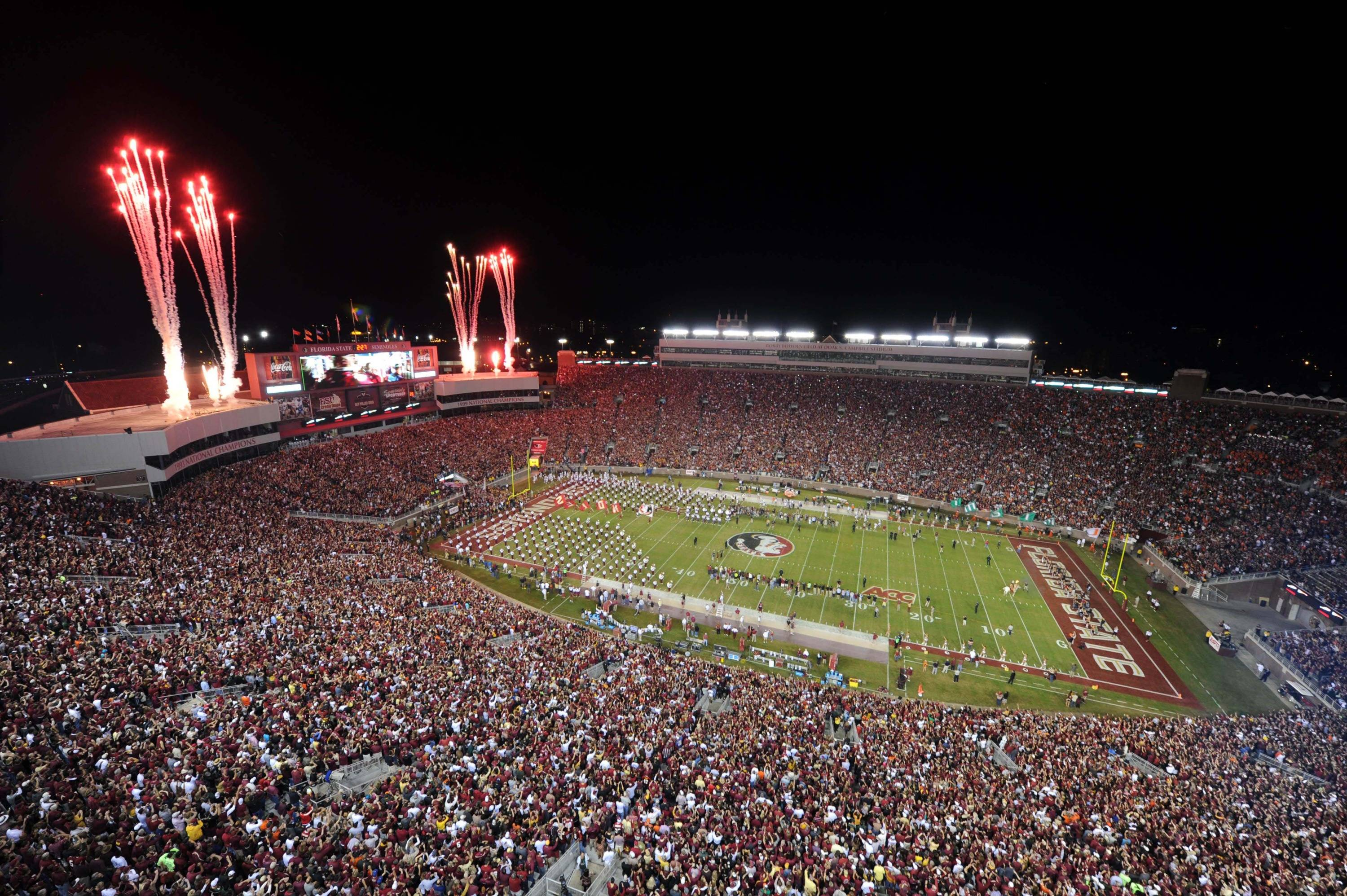 A general view of Doak Campbell Stadium before the game between the Florida State Seminoles and Miami Hurricanes. Mandatory Credit: Melina Vastola-USA TODAY Sports