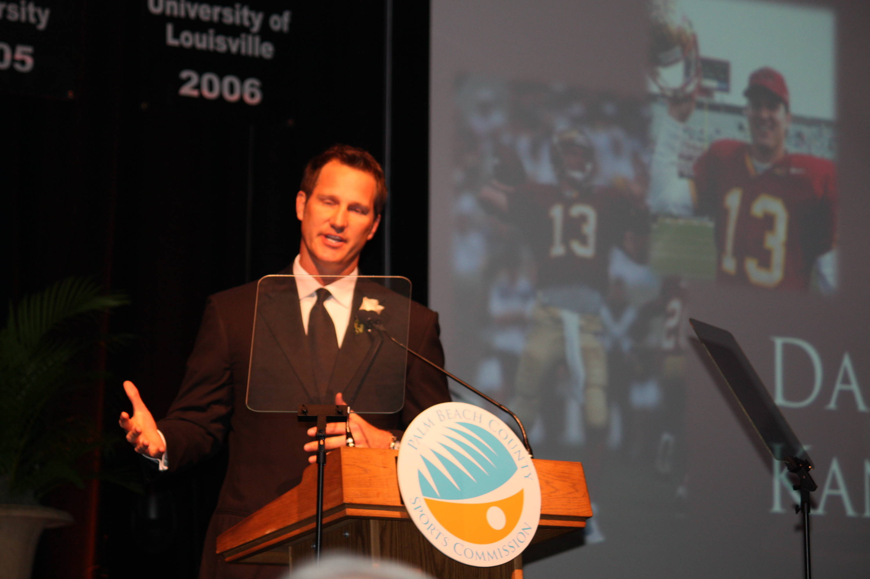 Former FSU quarterback Danny Kanell was the keynote speaker at Tuesday's Groza Awards Banquet.
