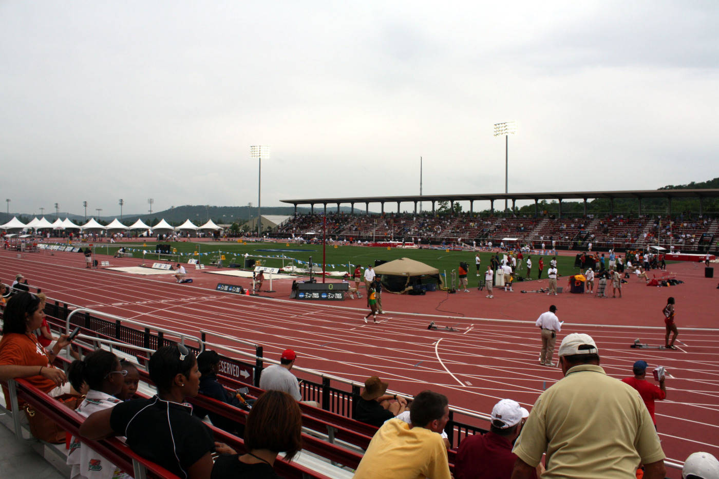 A broad view of the track at John McDonnell Field
