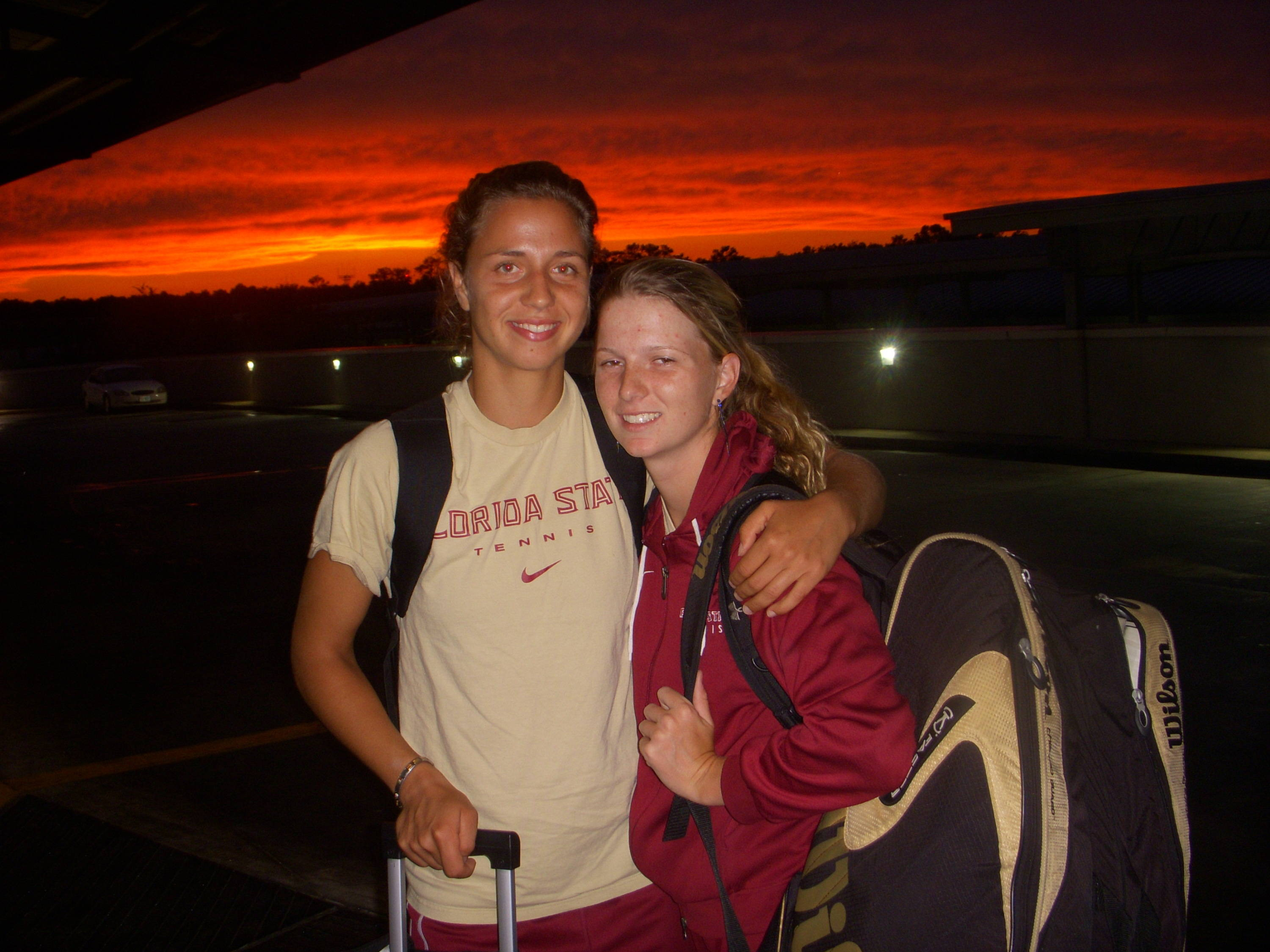 Seniors Katie Rybakova and Federica Suess. The top two singles players in FSU history.