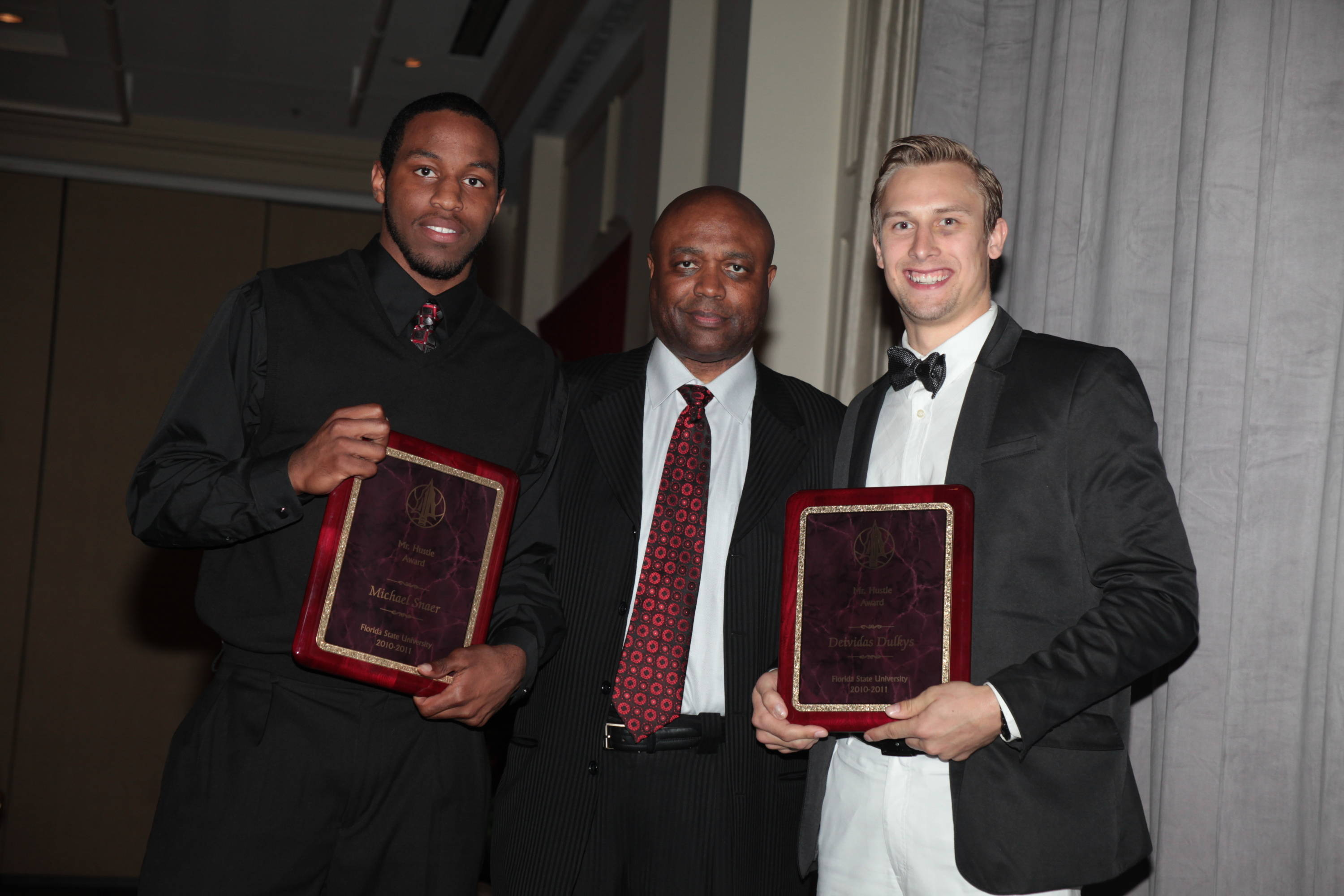2011 Men's Basketball Banquet - Michael Snaer and Deividas Dulkys