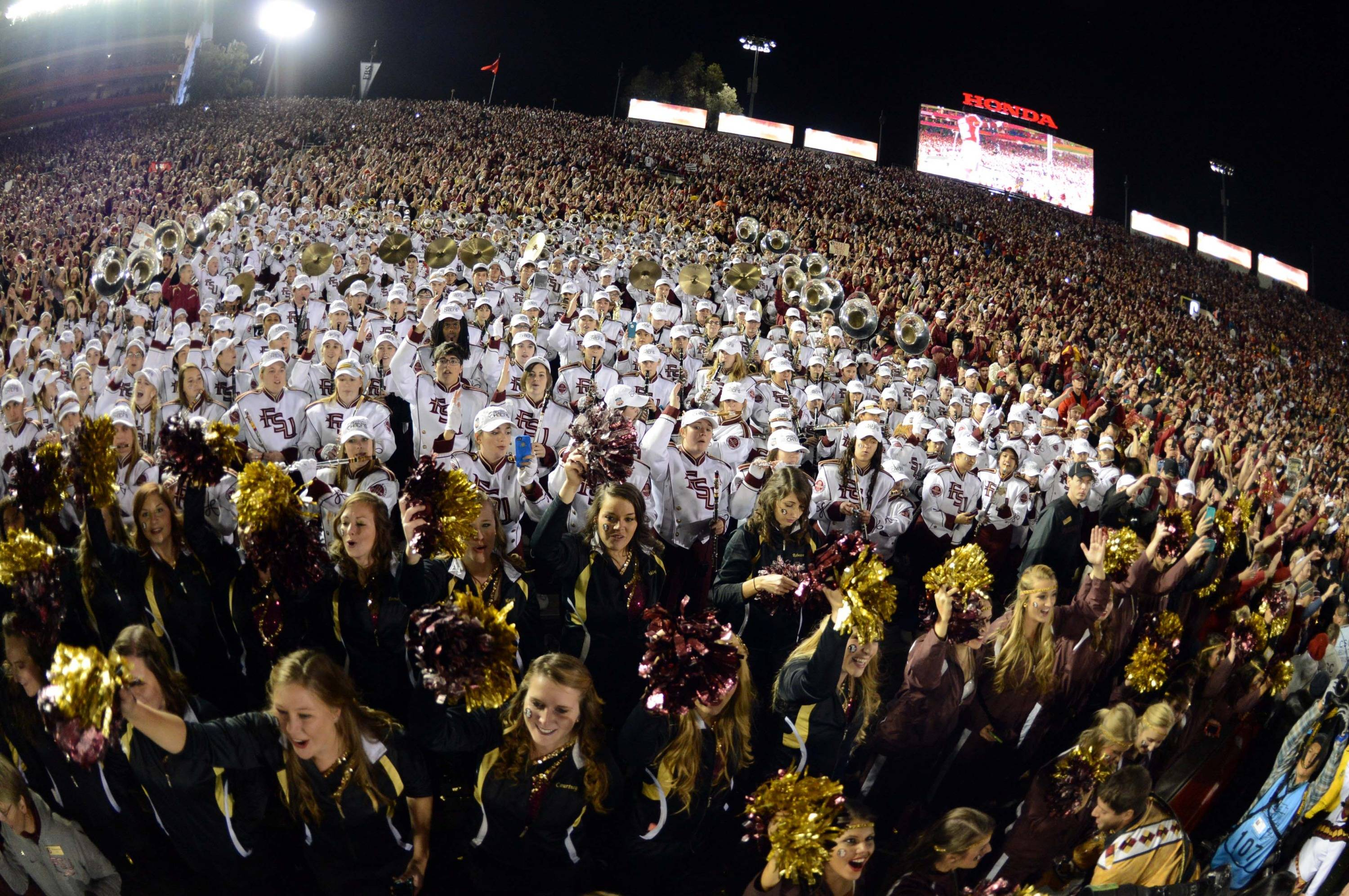 Jan 6, 2014; Pasadena, CA, USA; Florida State Seminoles band after the 2014 BCS National Championship game against the Auburn Tigers at the Rose Bowl.  Mandatory Credit: Jayne Kamin-Oncea-USA TODAY Sports