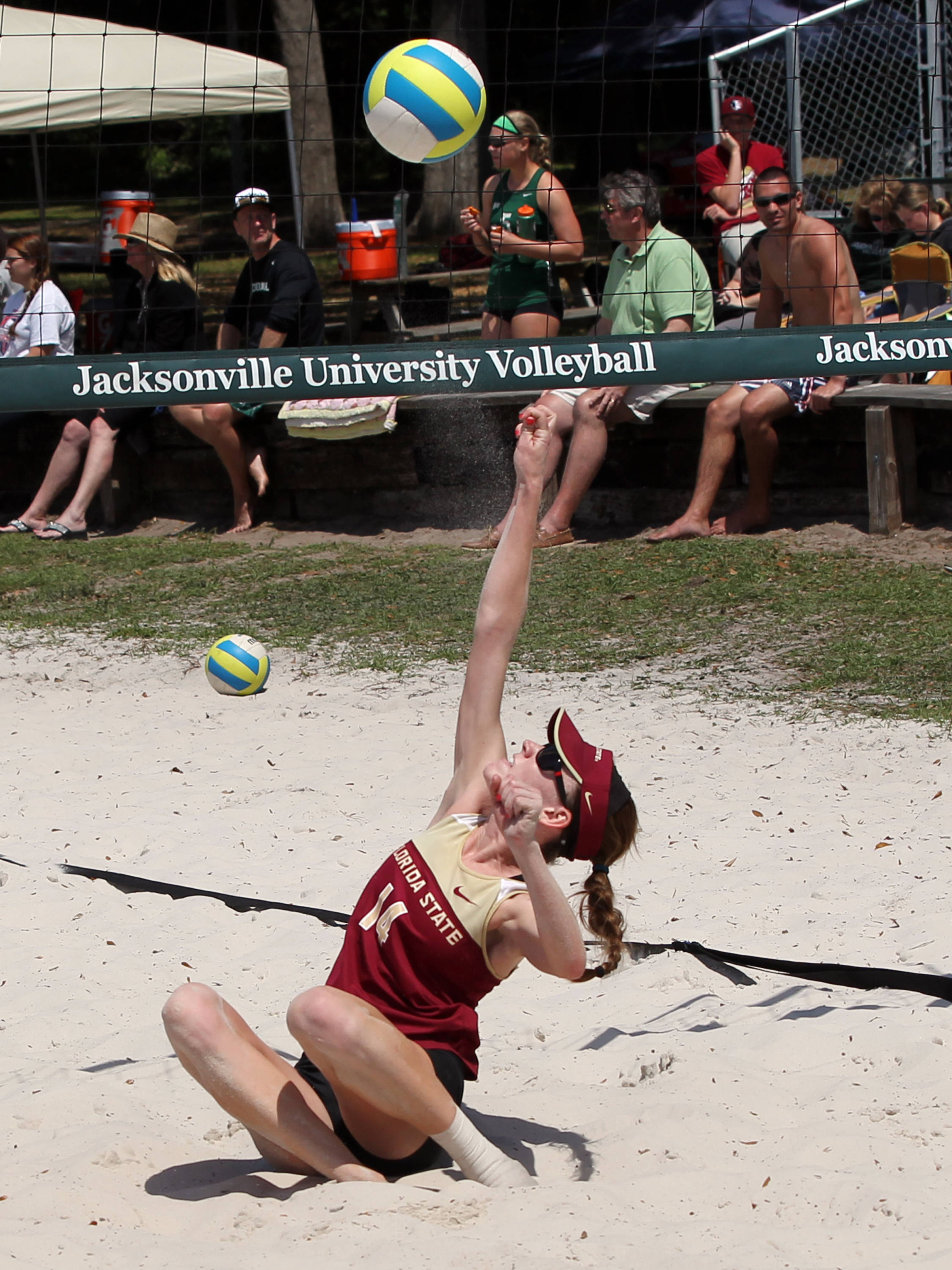 Mallory Kiley, FSU vs Jacksonville, 03/30/13 . (Photo by Steve Musco)