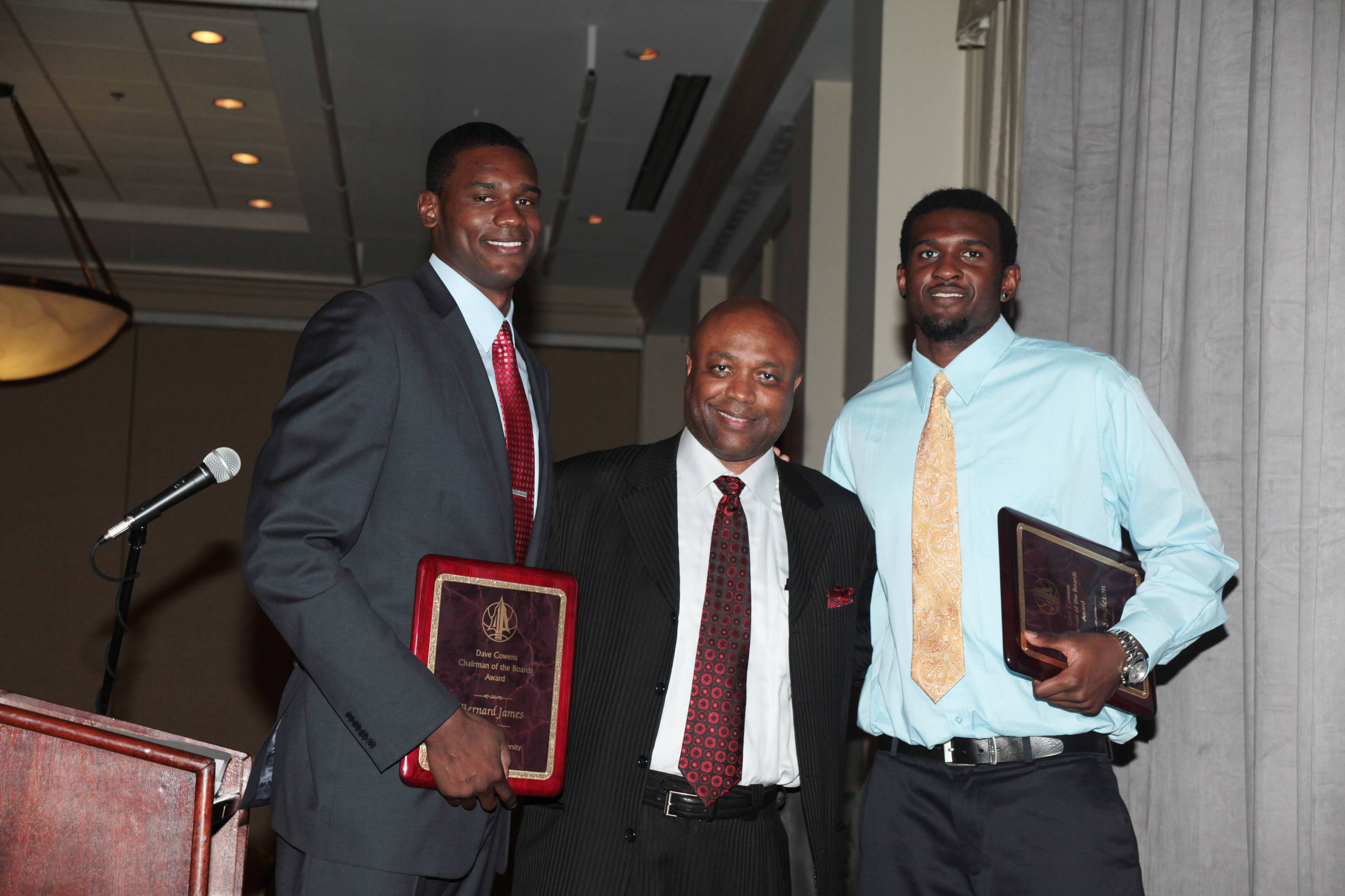 2011 Men's Basketball Banquet - Bernard James and Chris Singleton