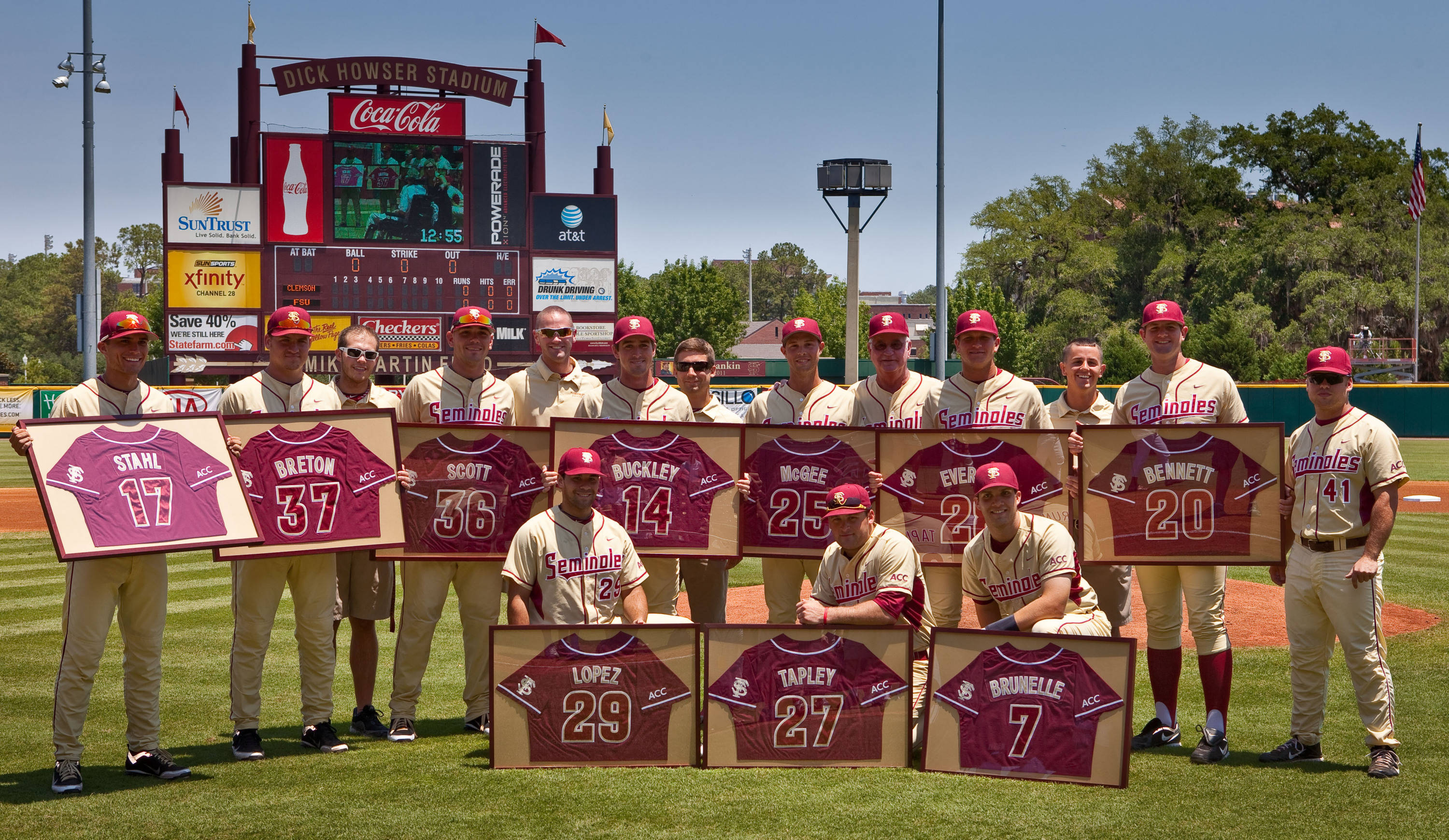 The Florida State Baseball team's 2011 senior class...