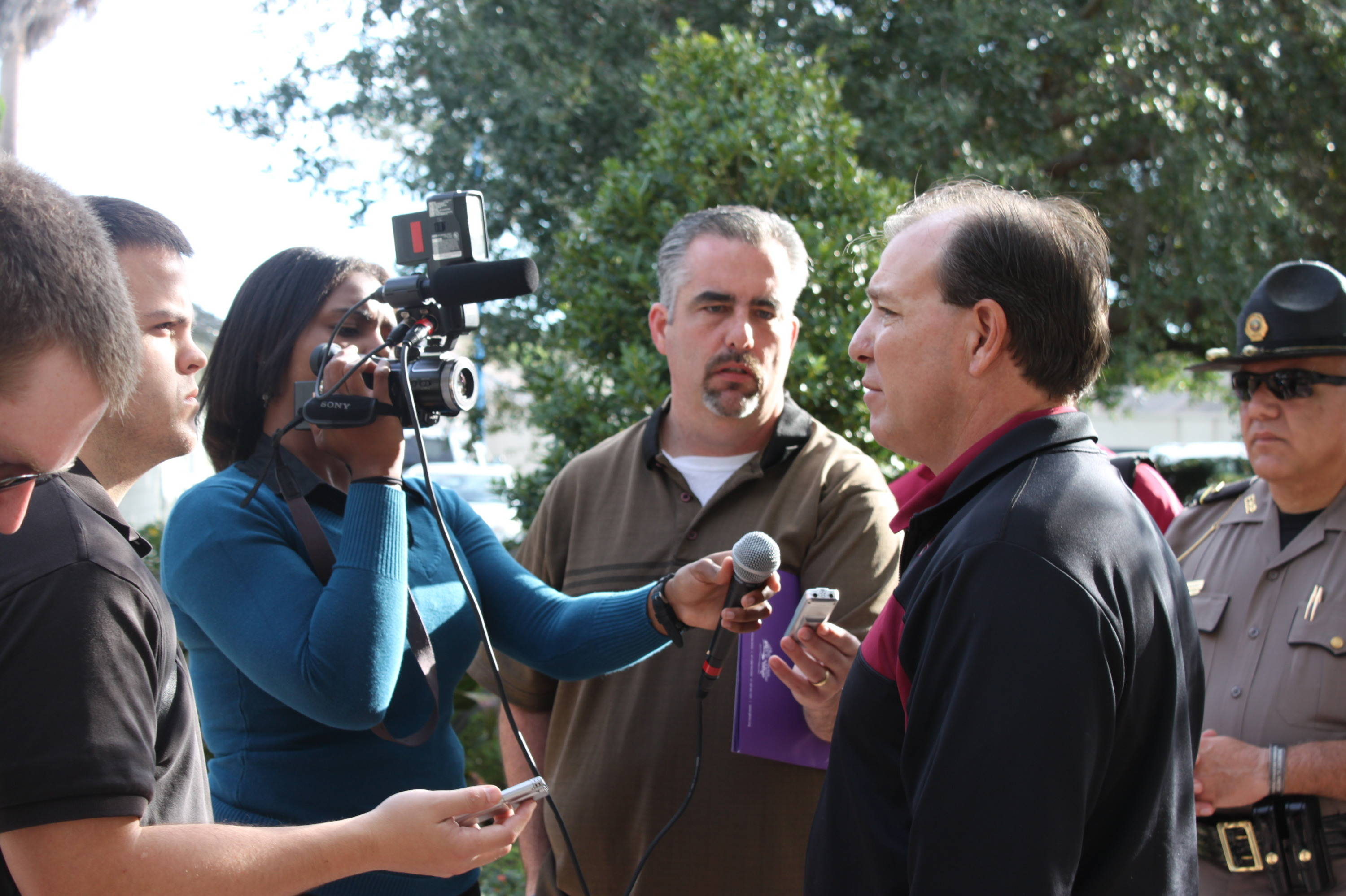 FSU coach Jimbo Fisher entertained questions from the media.