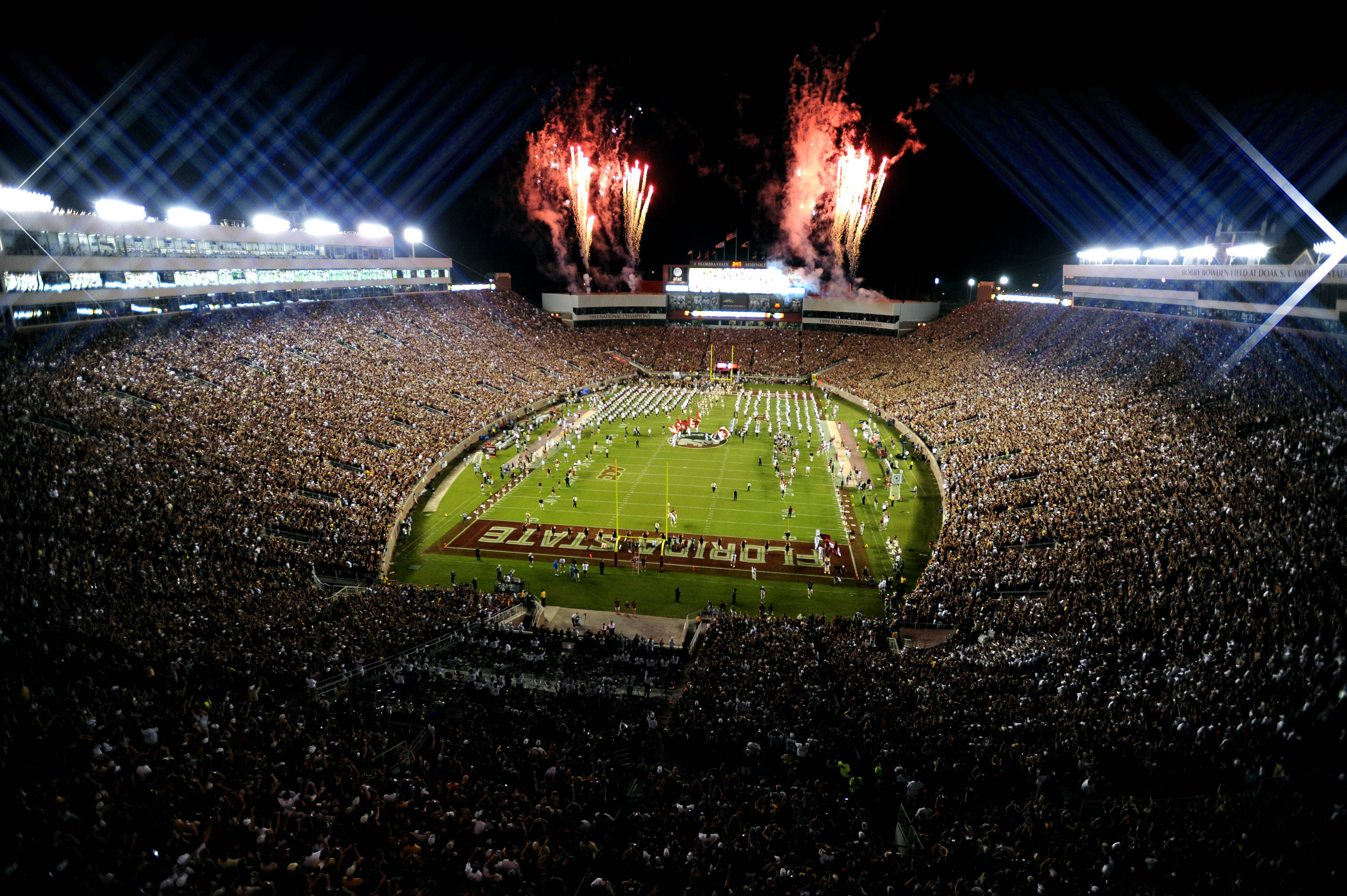 A view from atop Doak Campbell Stadium as the Seminoles took the field.