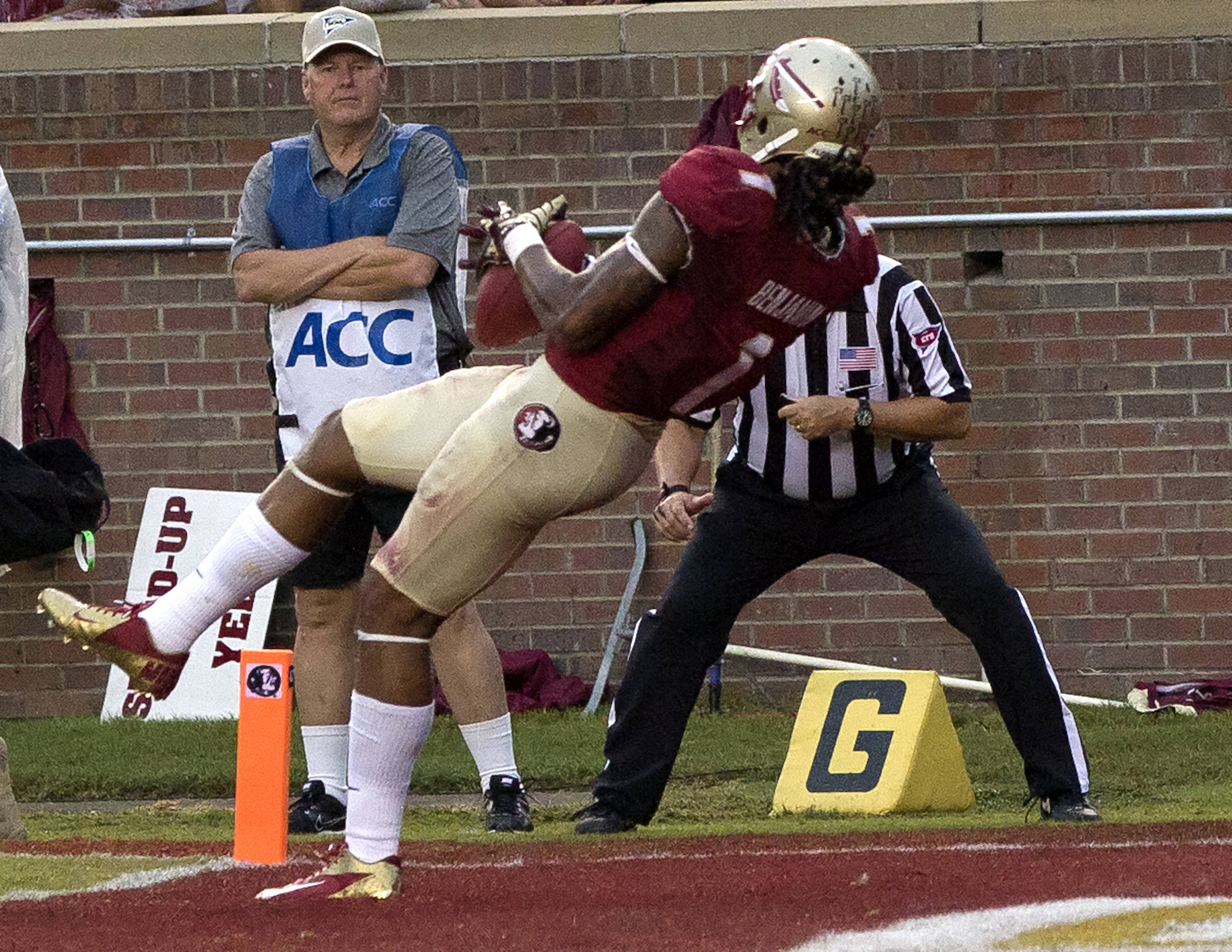 Kelvin Benjamin (1), FSU vs Bethune-Cookman,  9-21-13, (Photo by Steve Musco)