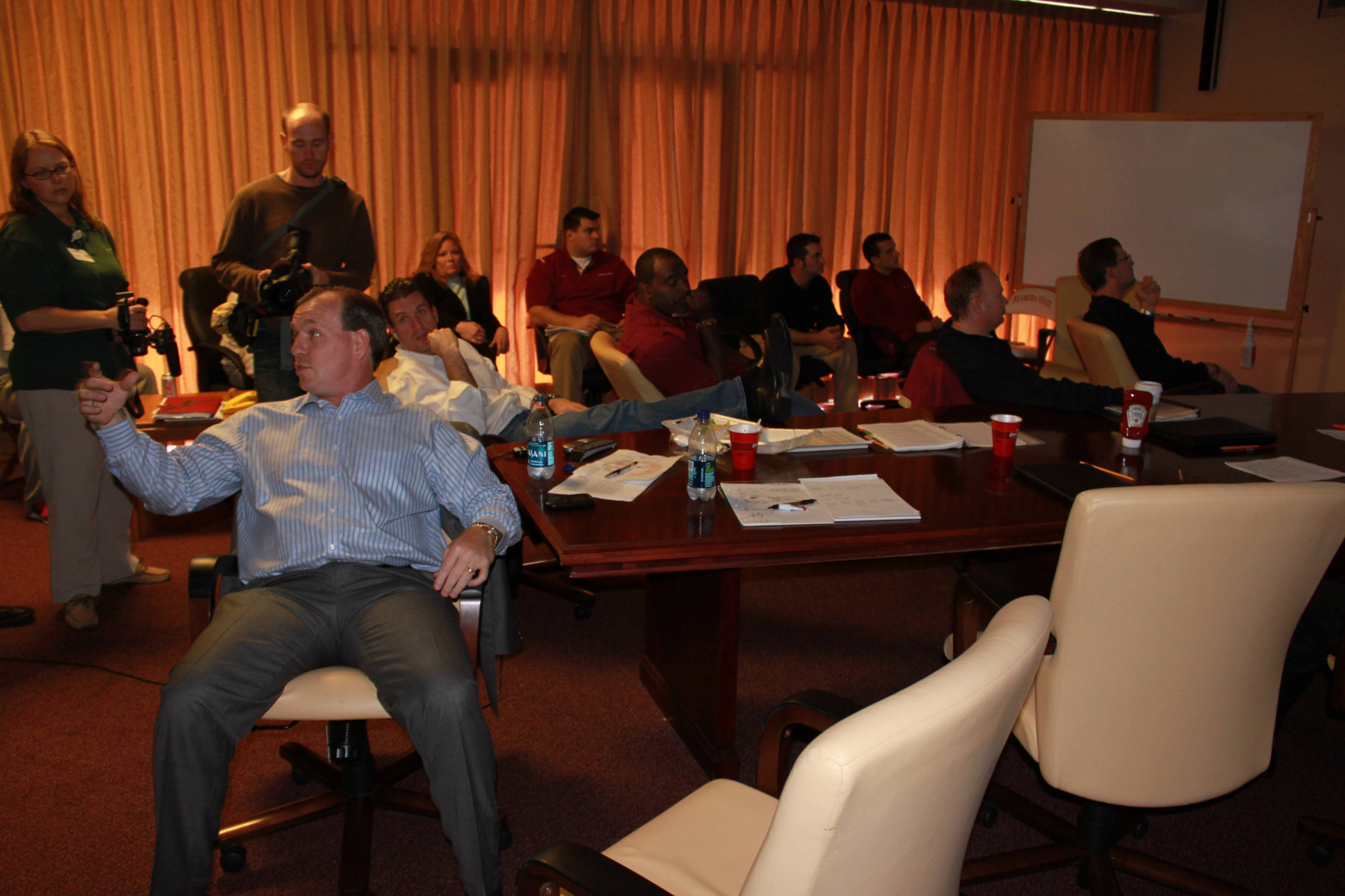 Jimbo Fisher and the rest of the coaching staff wait for recruits to make their decisions.