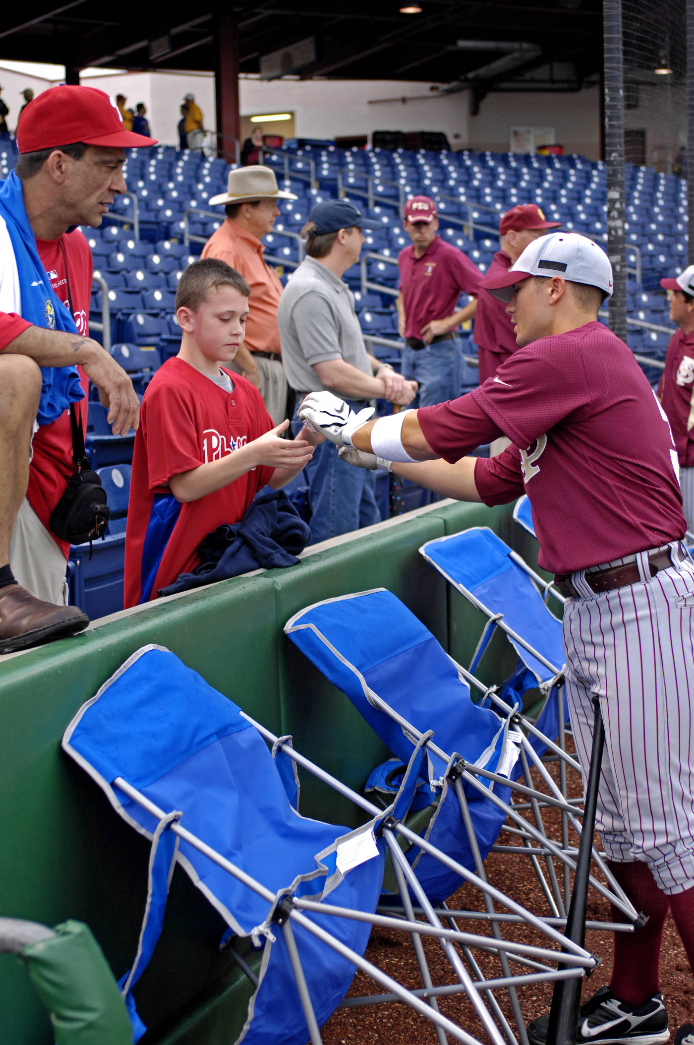 Tony Delmonico signs autographs for some fans