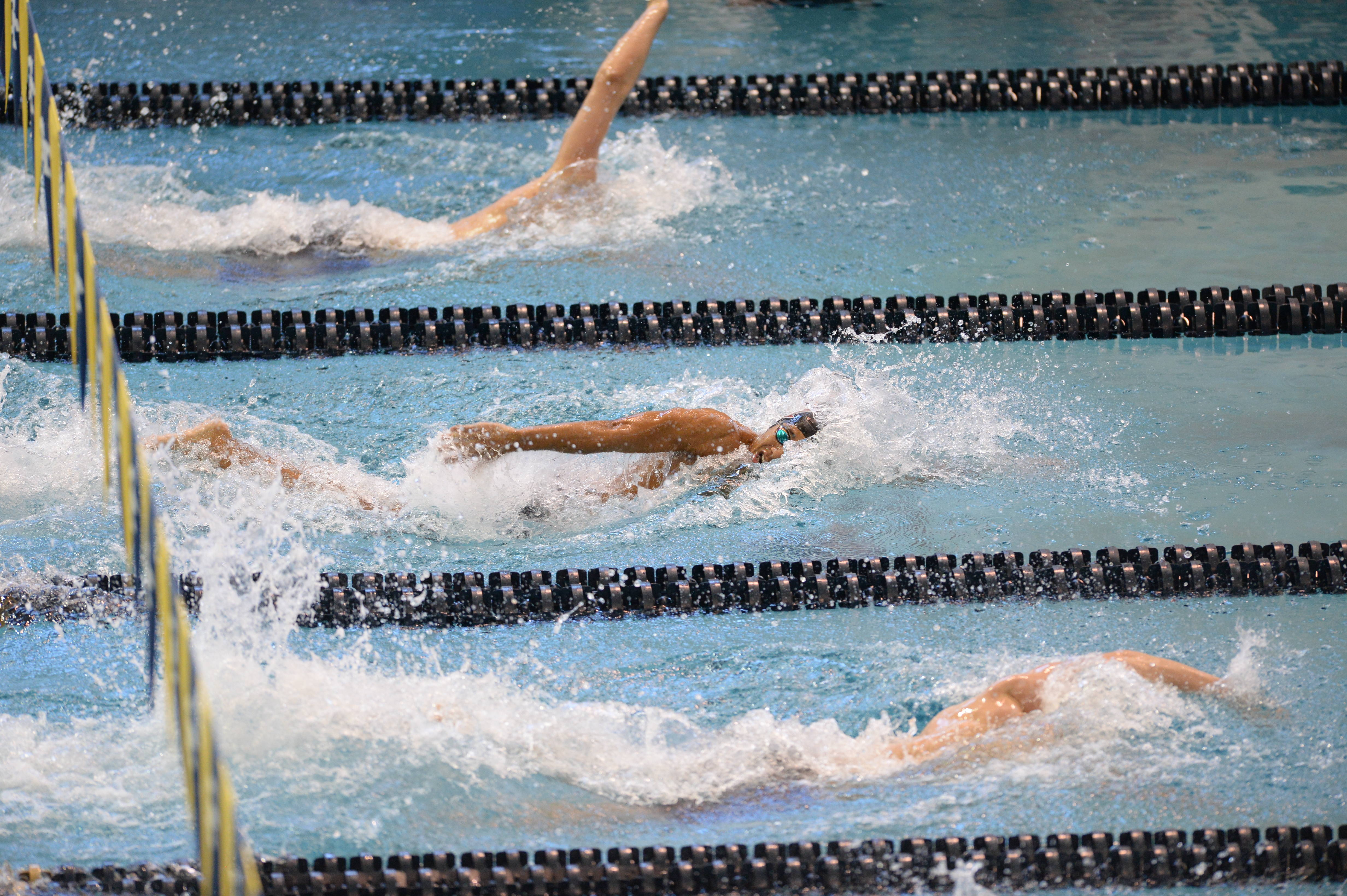 Jemal LeGrand in the 200 free - Mitch White