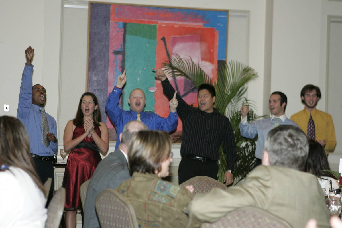 Members of Seminole Sound entertain guests with their own version of