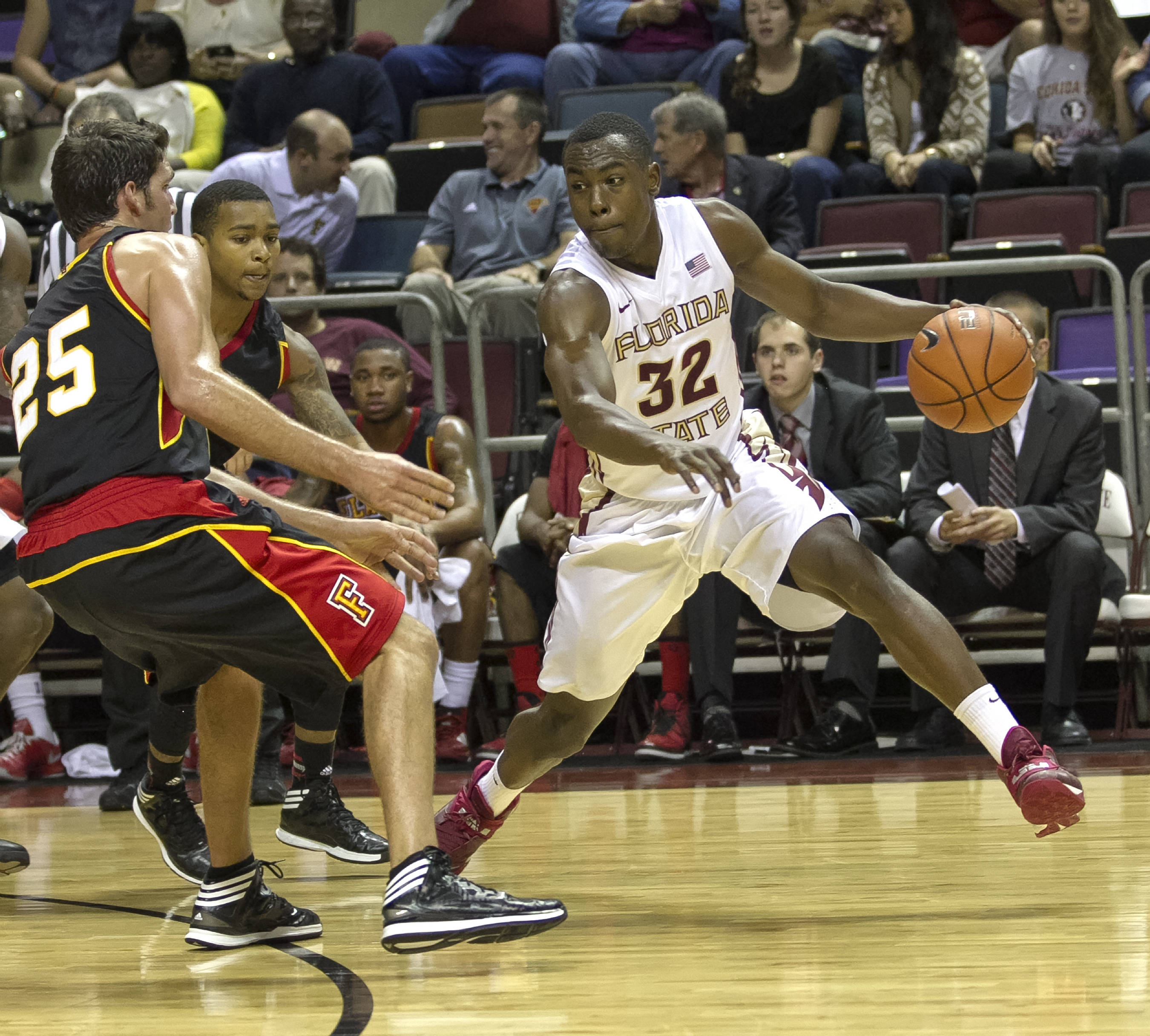 Montay Brandon, FSU vs Flagler College,  11-4-13, (Photo by Steve Musco)